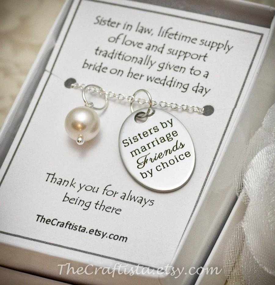 sister of the groom necklace -- sil2 -- sister-in-law necklace, maid