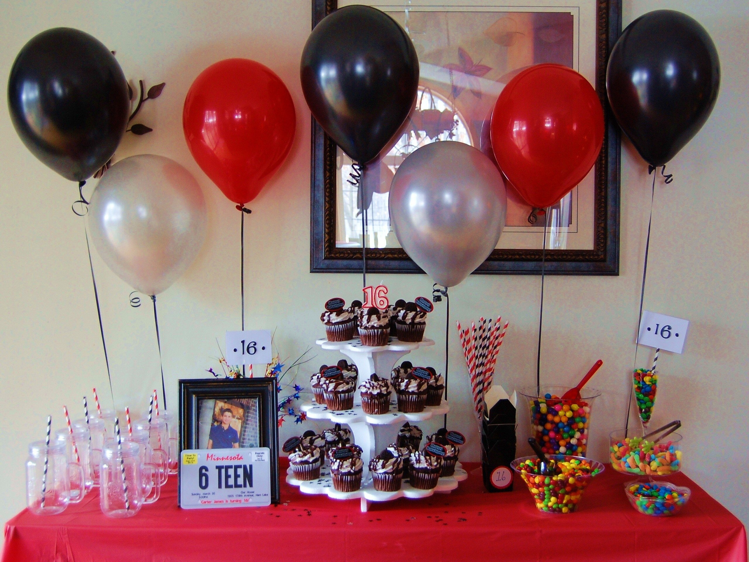 sixteenth birthday for a guy. sweet sixteen party ideas and decor