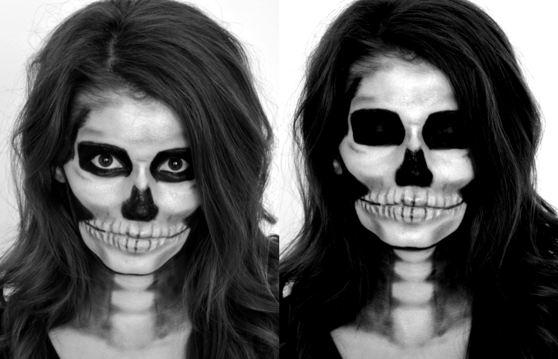 10 Wonderful Black And White Face Paint Ideas For Halloween skeleton makeup tutorial for halloween scary makeup ideas for 2020