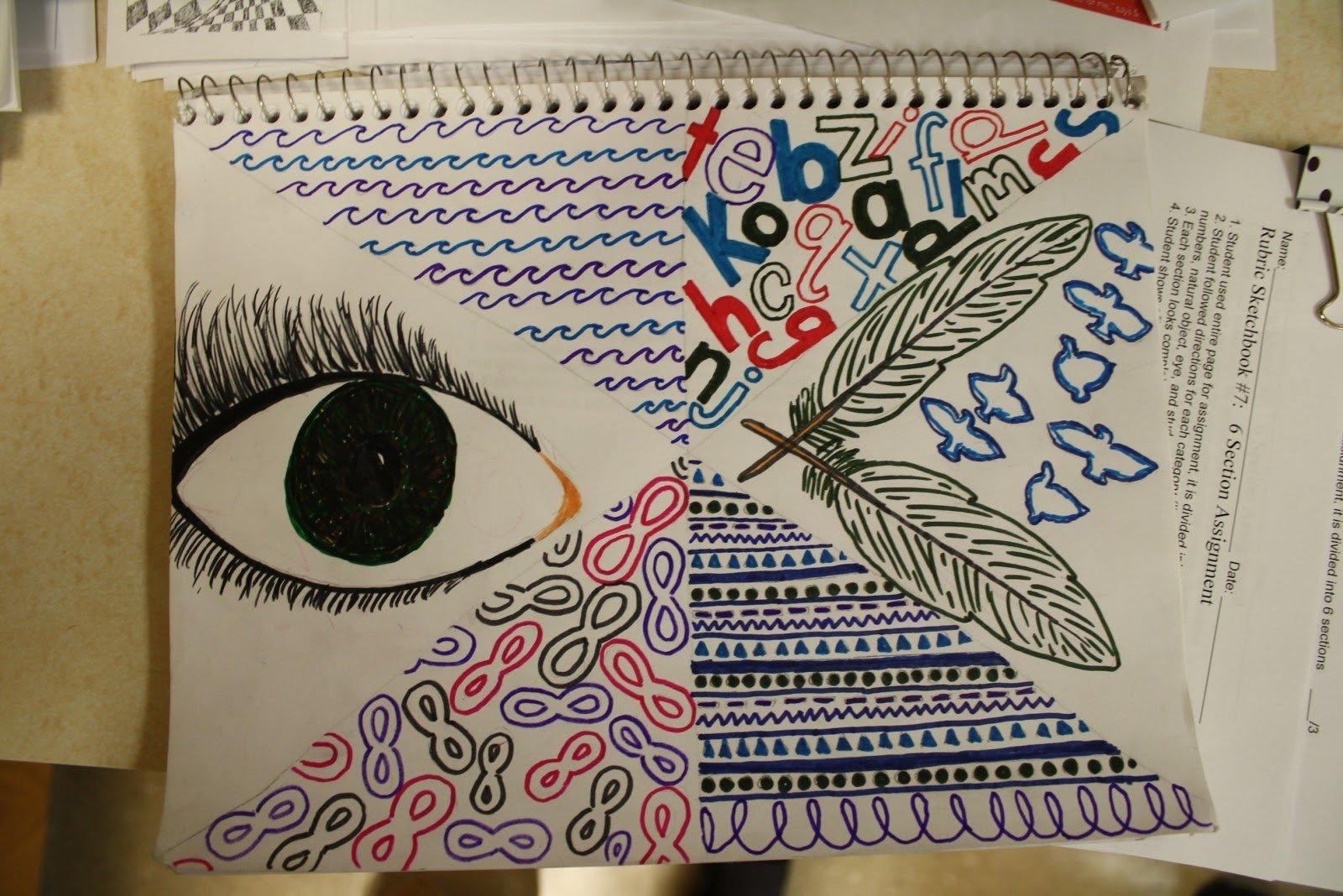sketchbook assignment ideas: middle school | dali's moustache