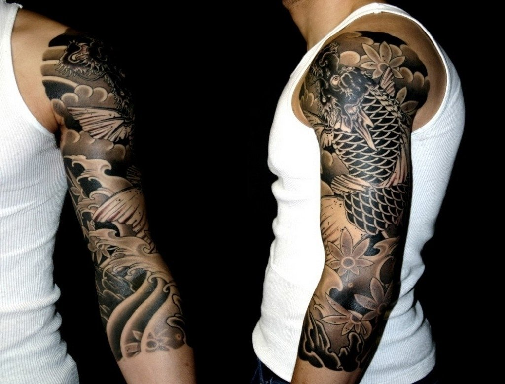 10 Famous Tattoo Sleeve Ideas For Black Men sleeve tattoo designs for men black and white best tattoo design 2020