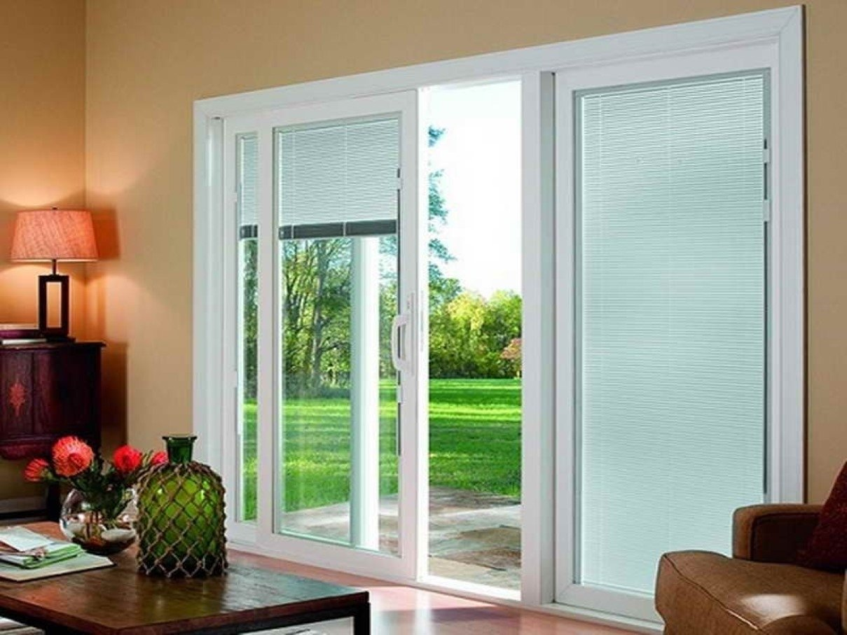 10 Beautiful Ideas For Sliding Glass Doors sliding door window treatment ideas they design in sliding glass 5 2020
