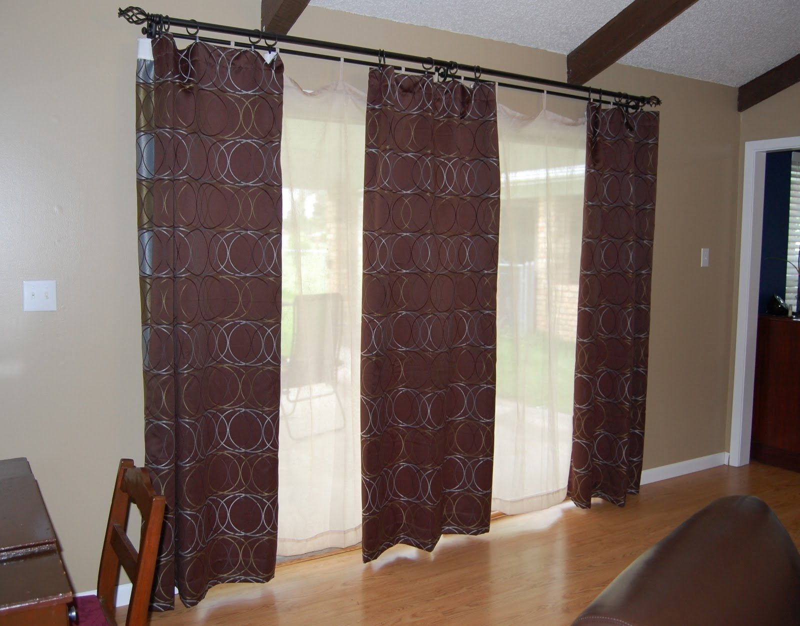 10 Stylish Curtain Ideas For French Doors sliding patio door curtains ideas charter home ideas