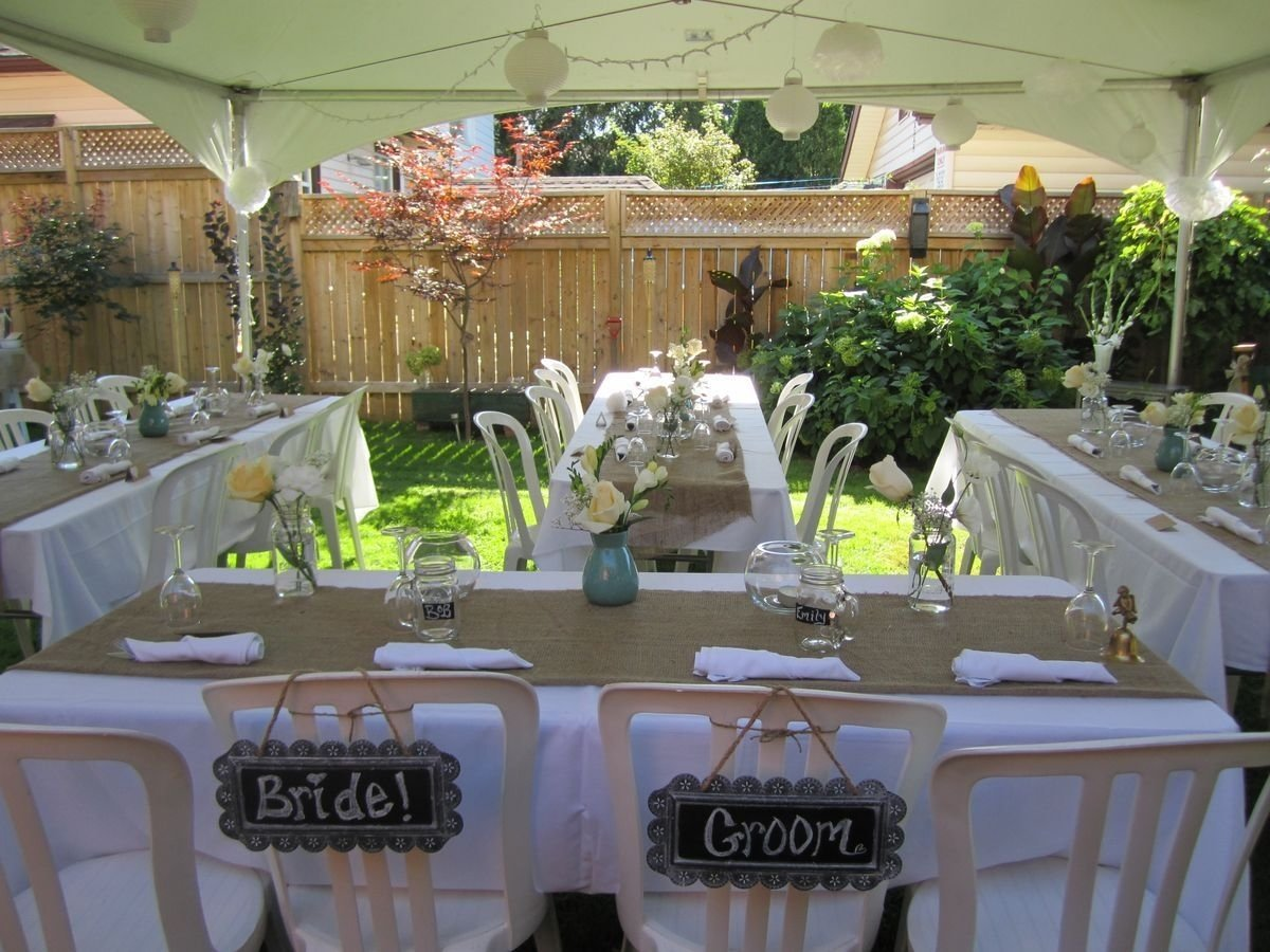 10 Spectacular Small Intimate Wedding Reception Ideas small backyard wedding best photos backyard wedding and weddings 7 2020