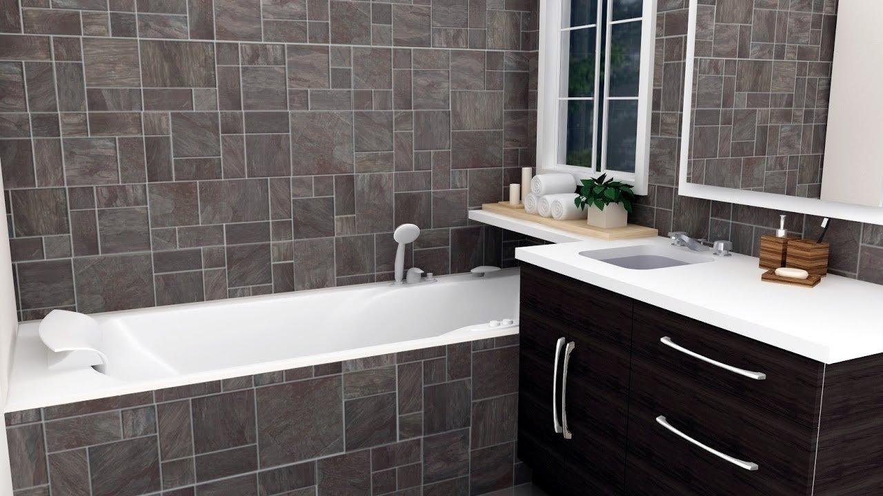 10 Wonderful Small Bathroom Tile Floor Ideas small bathroom tile design ideas youtube 2020