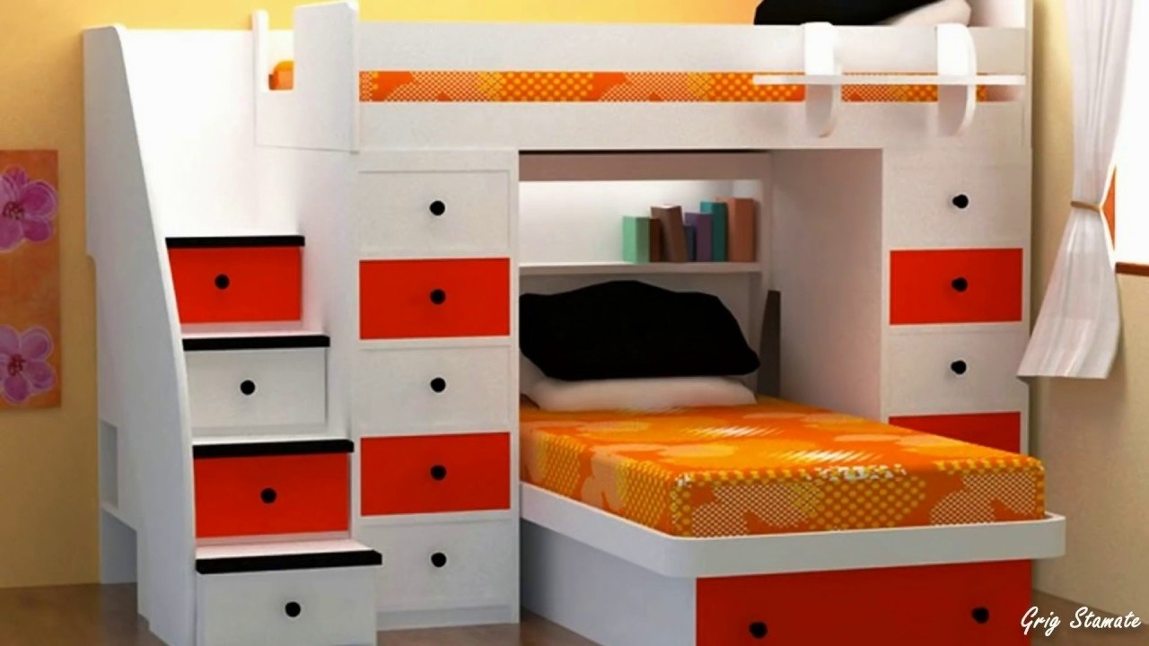 small bedroom space-saving ideas - youtube