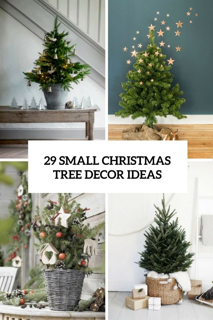 small christmas tree decor ideas cover | christmas | pinterest