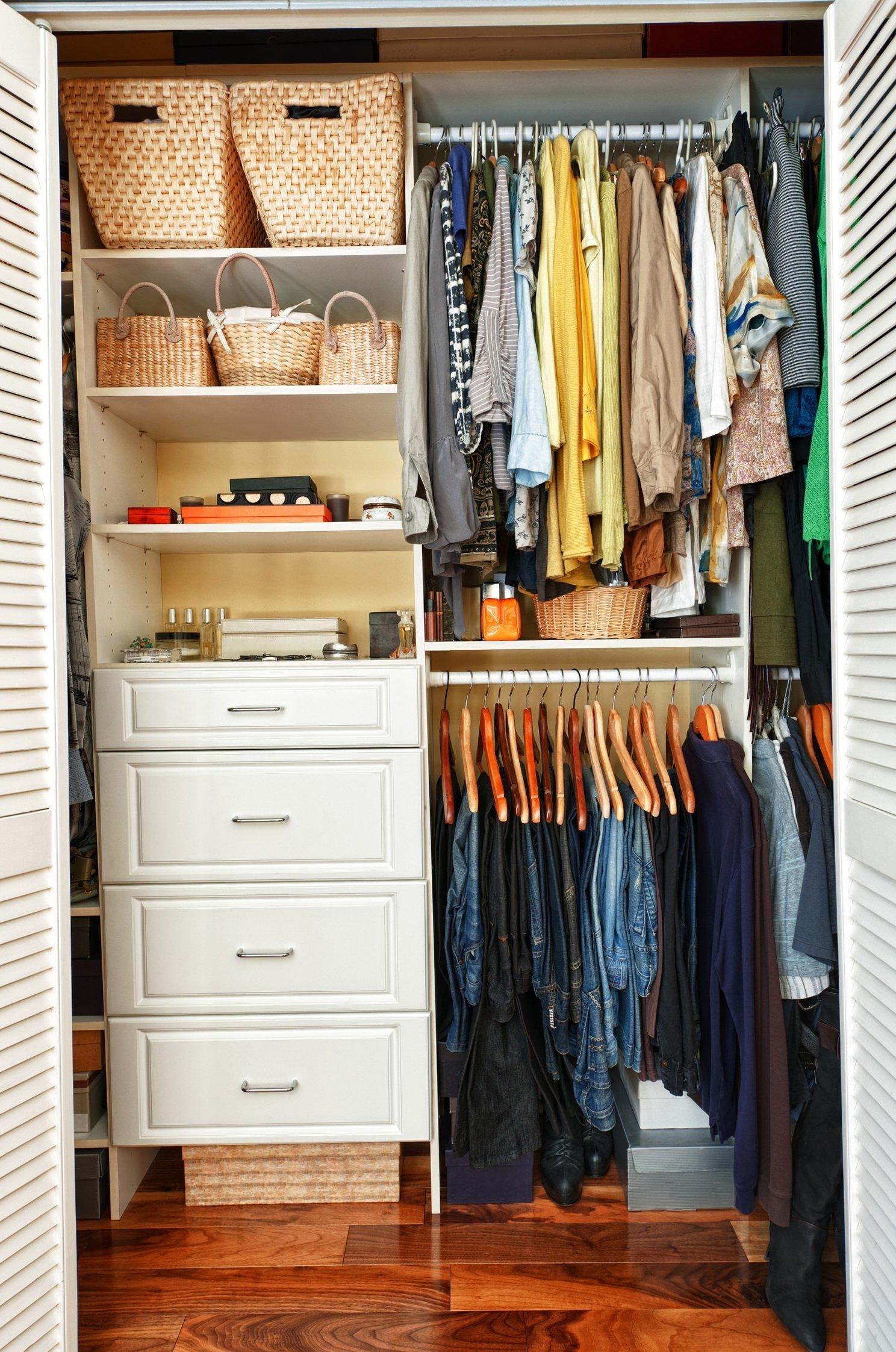 10 Attractive Closet Organization Ideas For Small Closets small closet organization ideas diy home design loversiq 2021