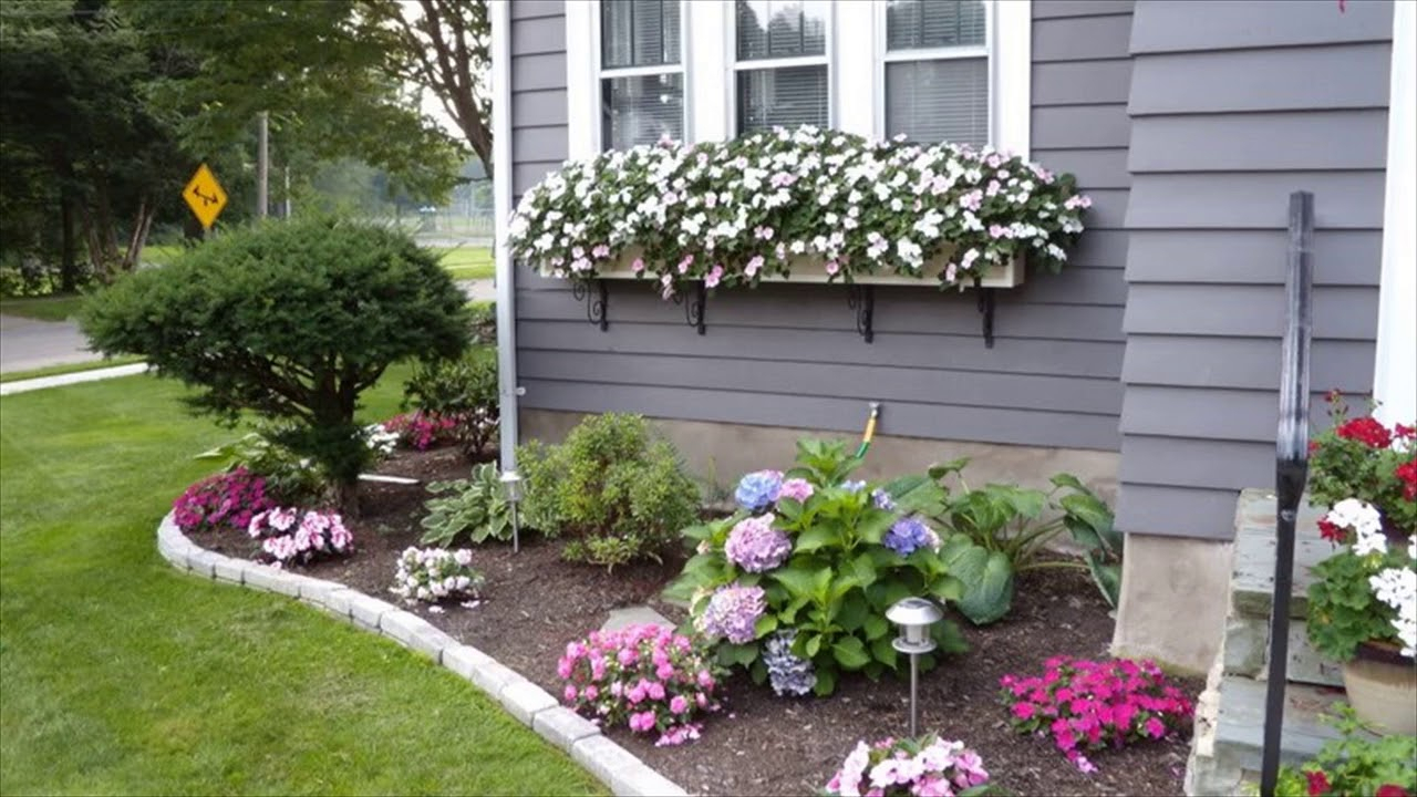 10 Lovely Flower Beds Ideas Front Yard small flower bed ideas for front of house youtube