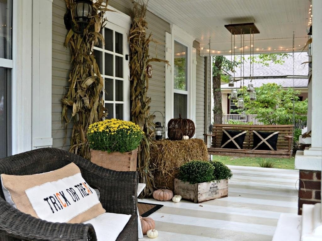 10 Ideal Front Porch Decorating Ideas For Spring small front porch fall decorating ideas front porch decorating small 2021