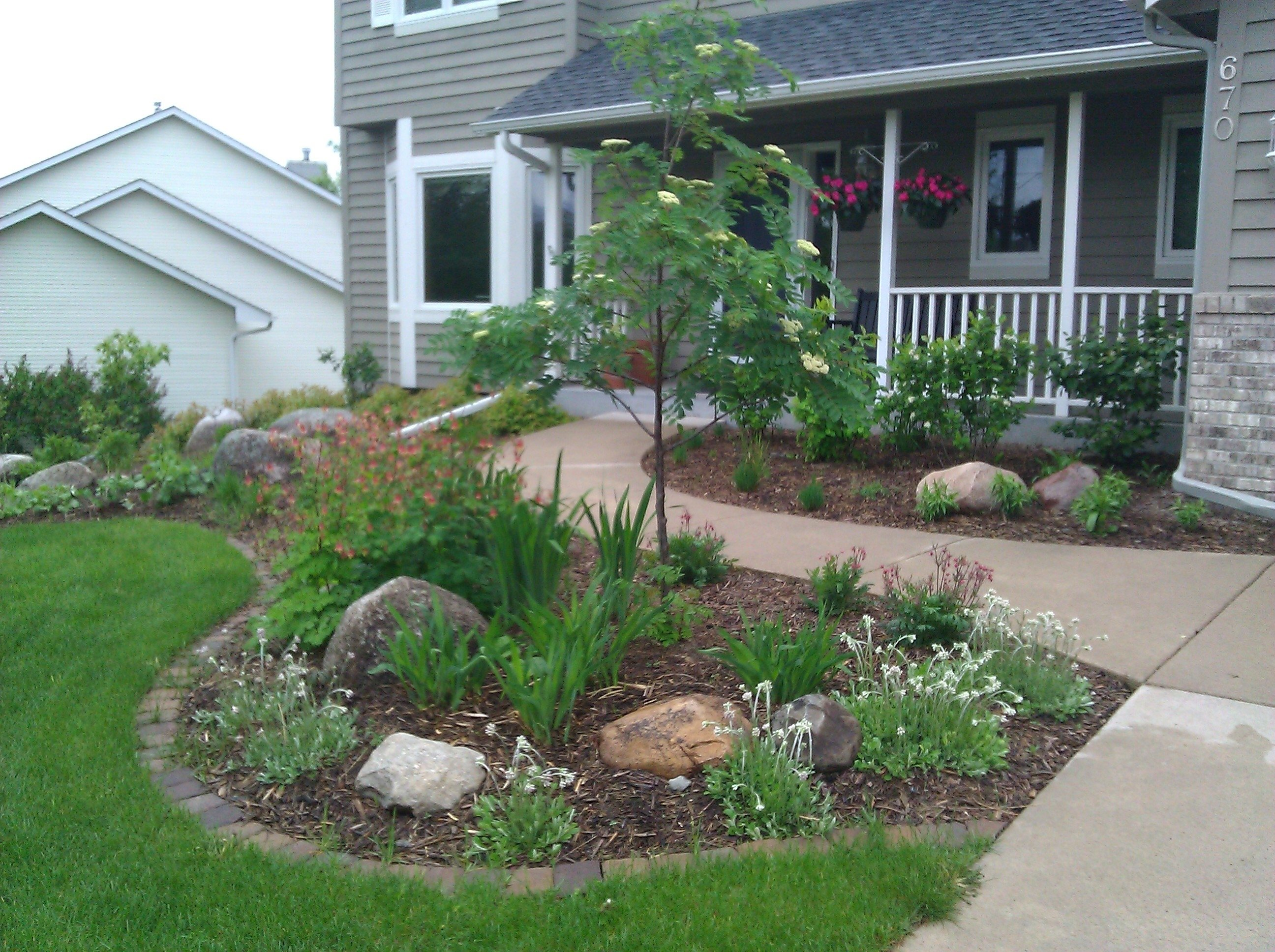 10 Stunning Small Front Yard Landscaping Ideas small front yard landscaping house design with various plants 1