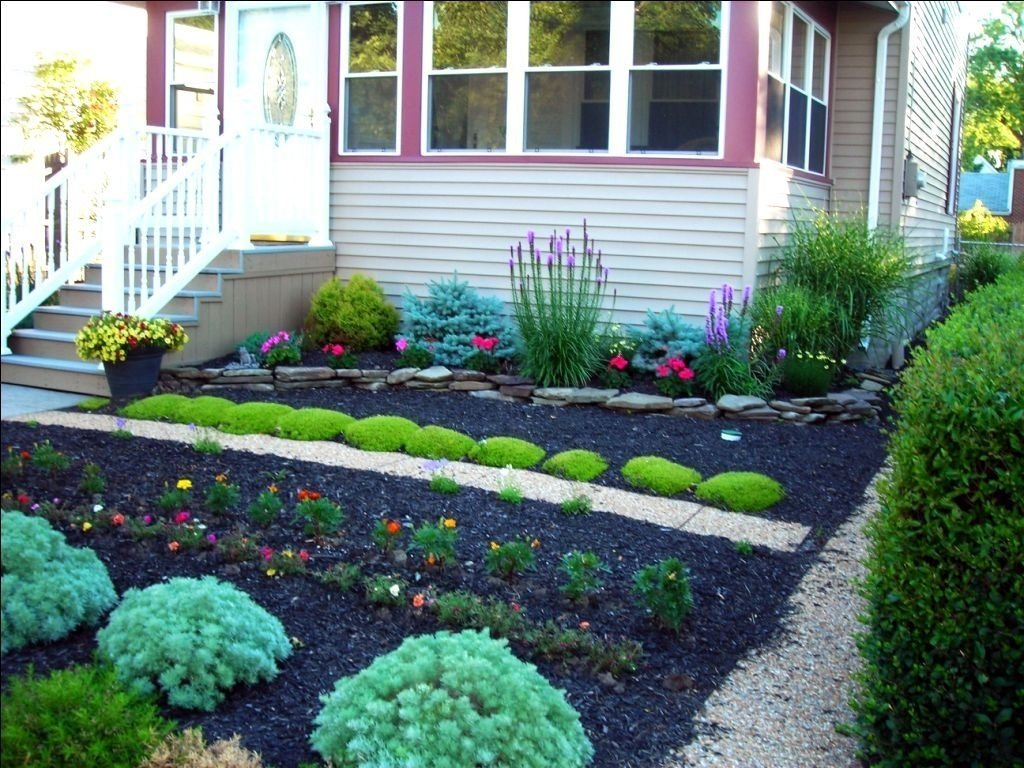 10 Stylish Small Front Yard Flower Bed Ideas small front yard landscaping ideas no grass garage with carport 2020