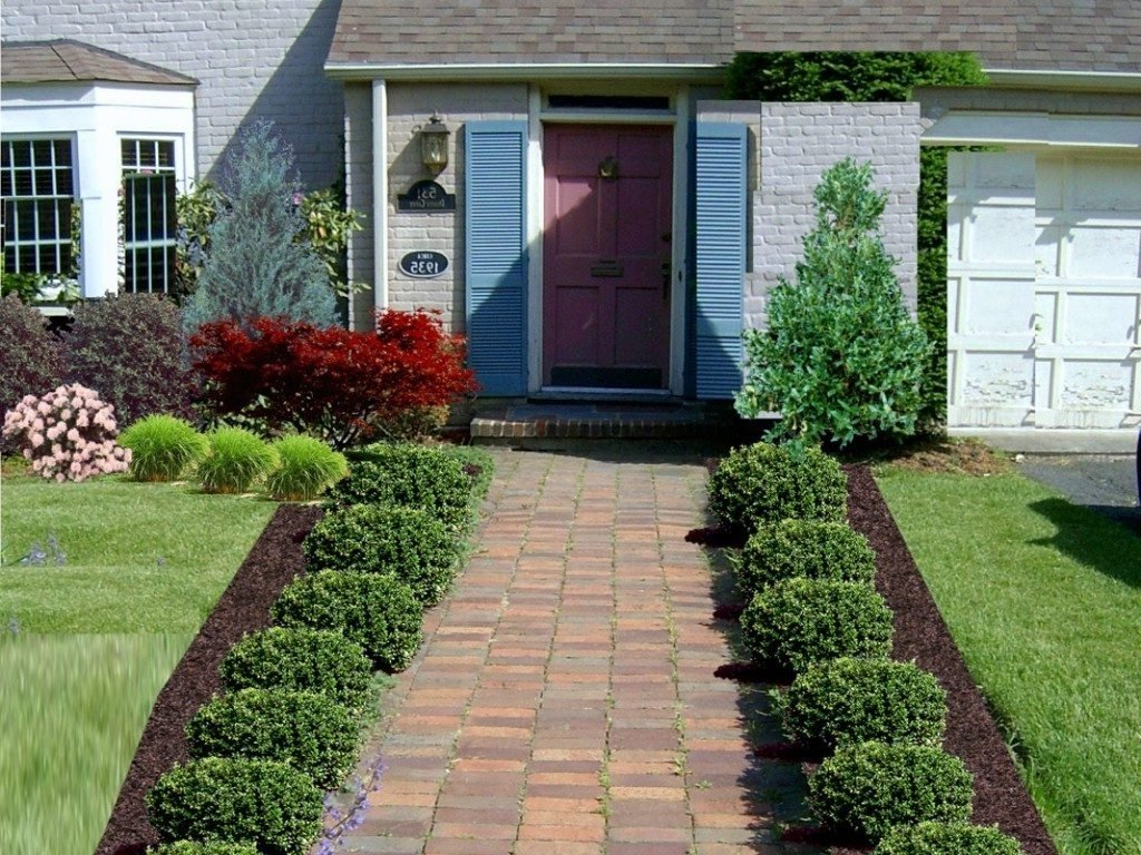 10 Nice Ideas For Front Yard Landscaping small front yard landscaping ideas wooden chair landscape design 2020