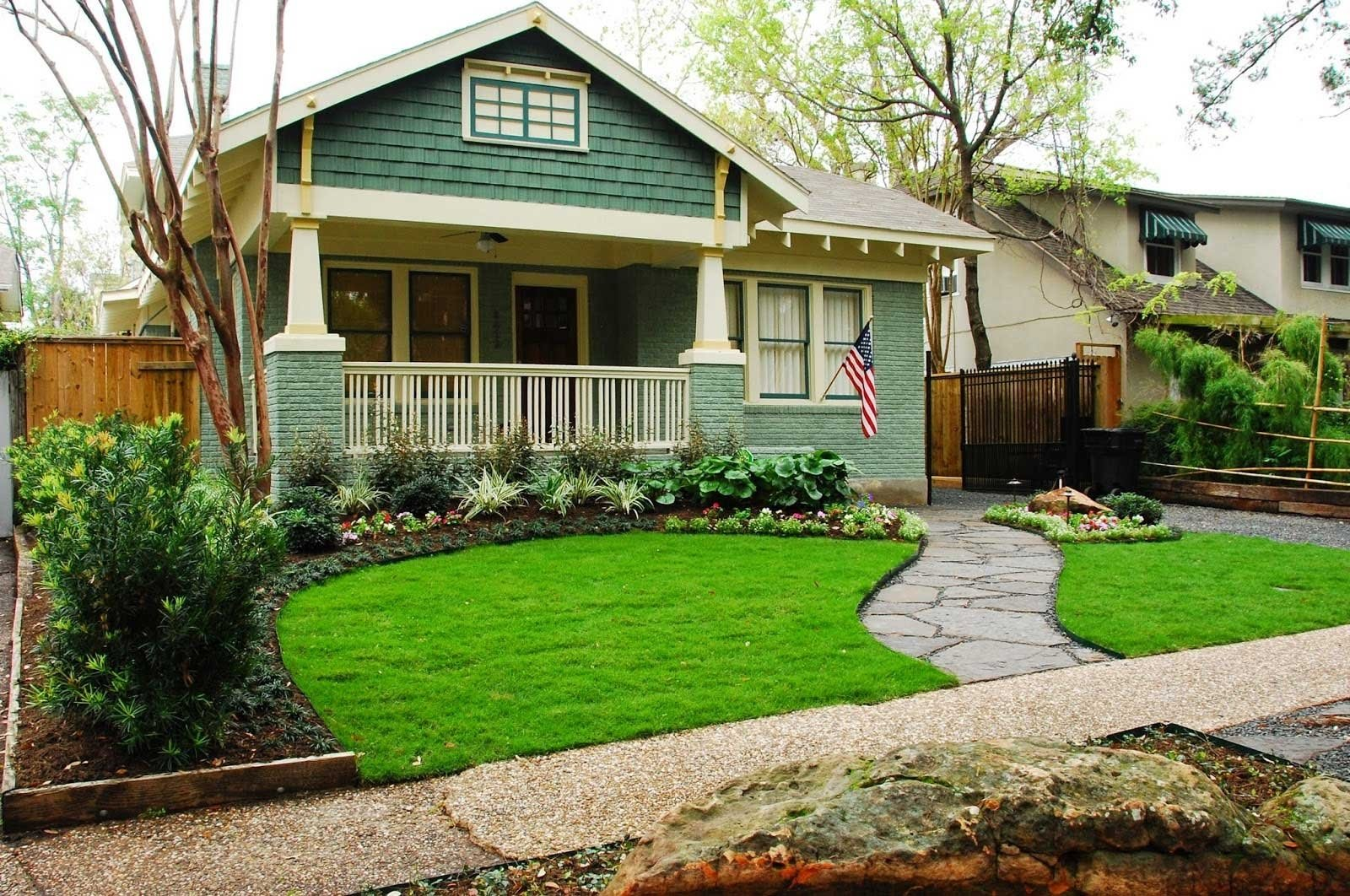 10 Nice Front Yard Landscape Design Ideas small front yard landscaping with natural green grass side cute