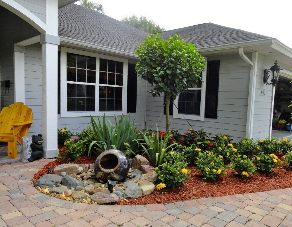 10 Lovely Landscaping Ideas For Front Yards small front yards landscaping ideas with fountains yard 2021