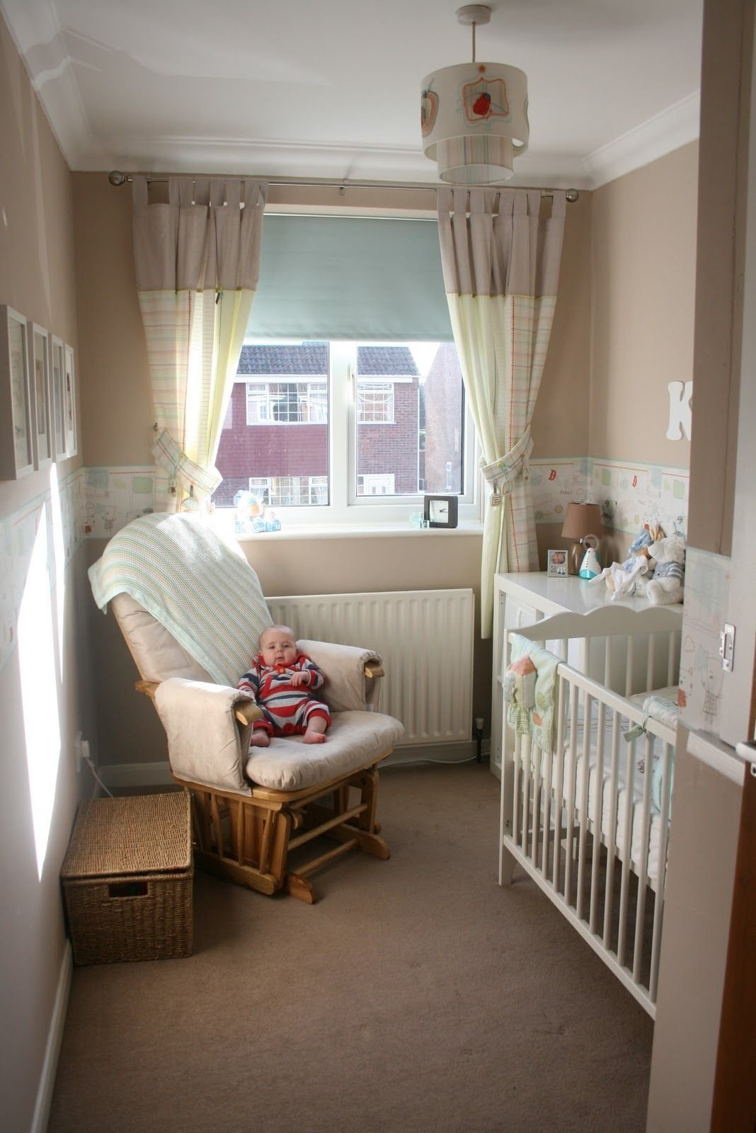 10 Gorgeous Nursery Ideas For Small Rooms small gender neutral nursery crib dresser changer and rocker 2020