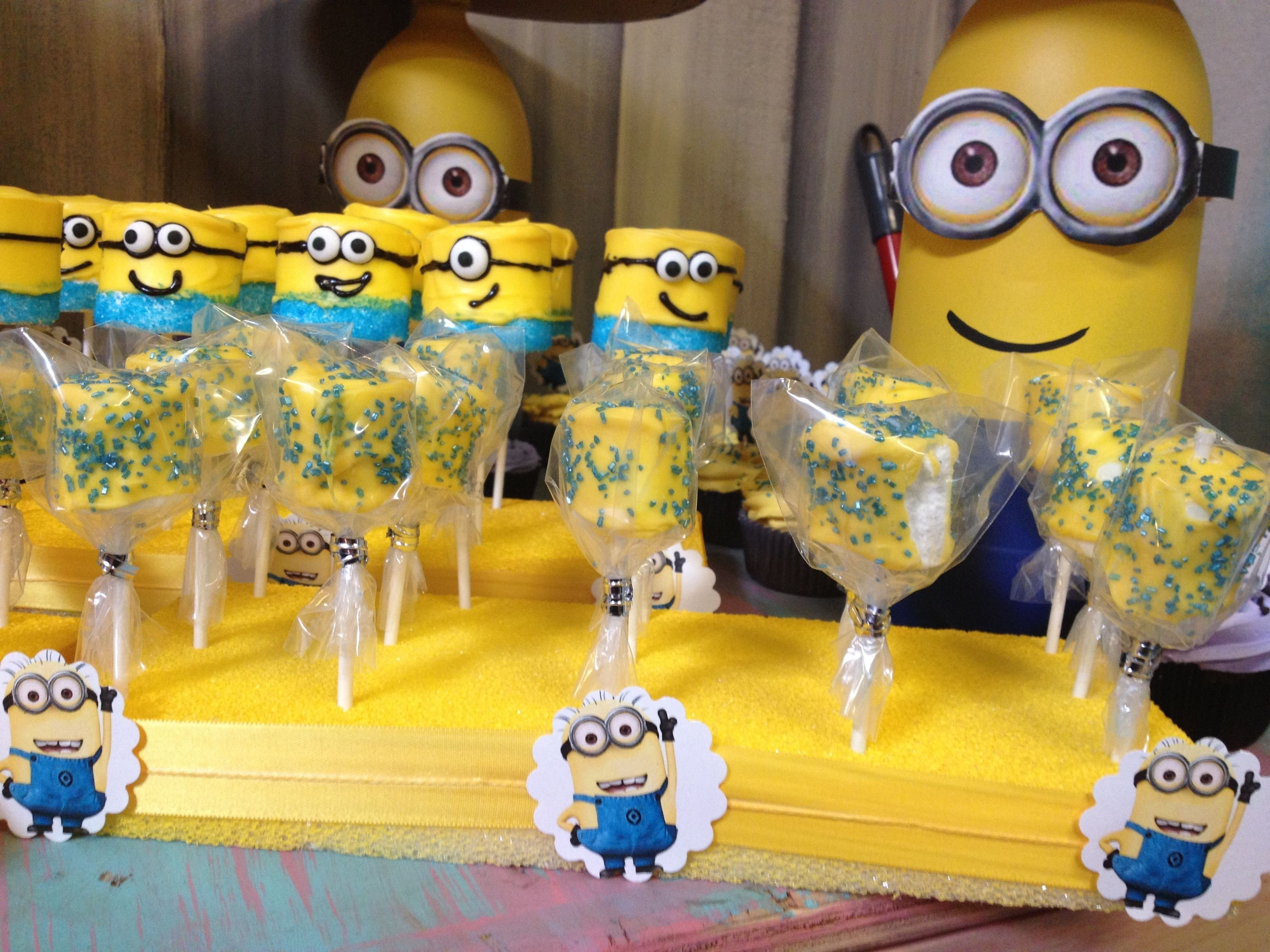 10 Nice Despicable Me 2 Birthday Party Ideas small large marshmallow pops despicable me 2 birthday party 2020