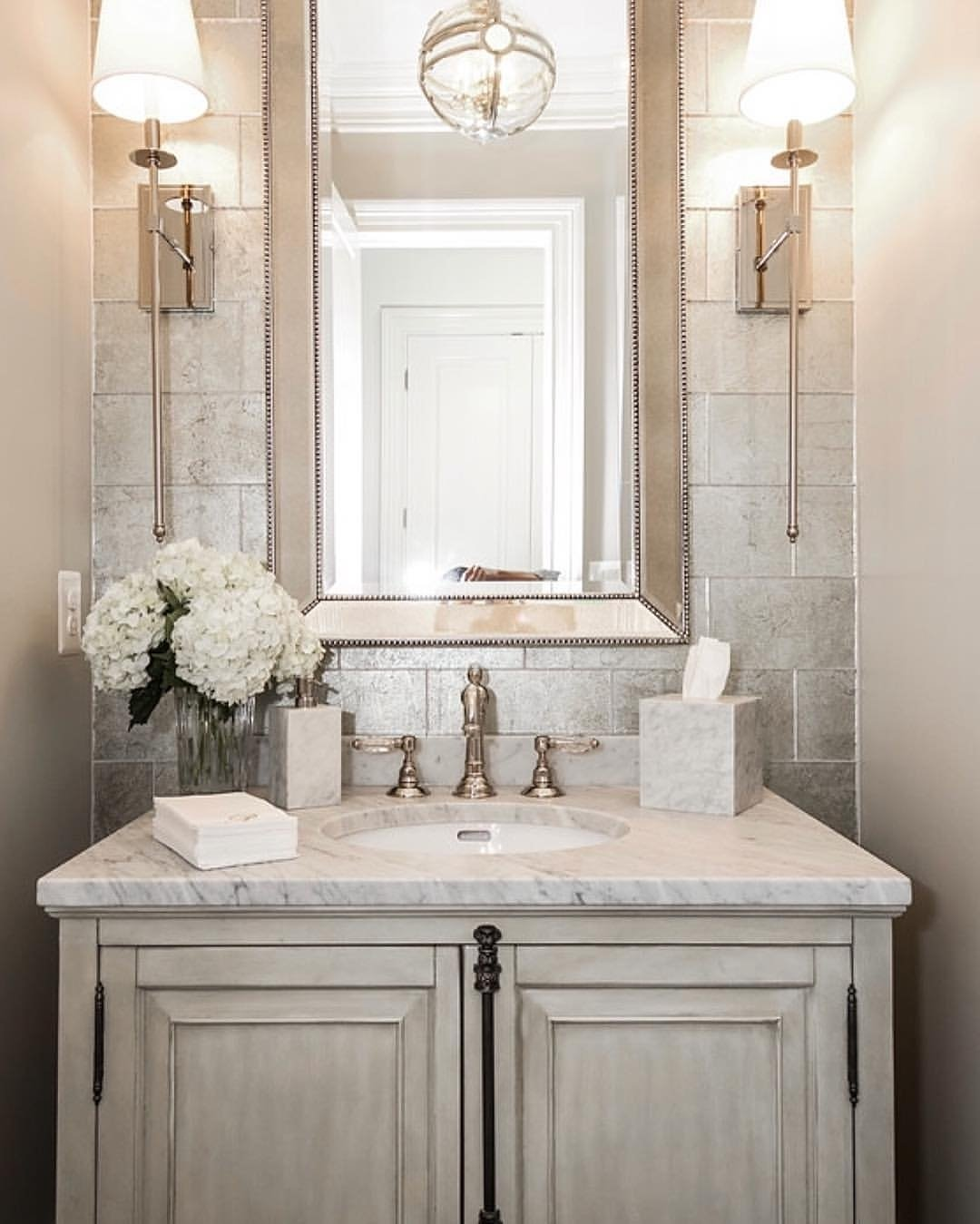 10 Cute Very Small Powder Room Ideas small powder room with white fixtures and walls ways to paint ideas