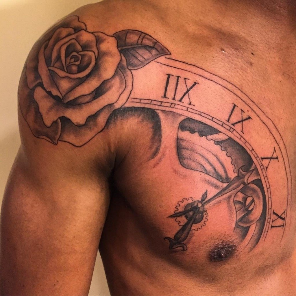 Rose Tattoos Men Small Rose Tatoo border=