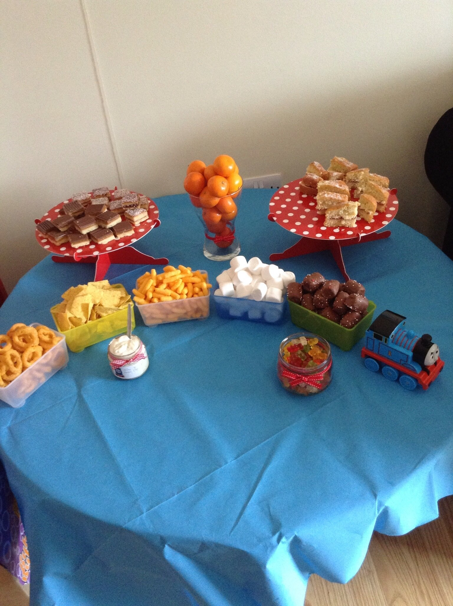 10 Fabulous Thomas The Train Party Food Ideas snack table thomas tank engine party thomas ideas pinterest 2021