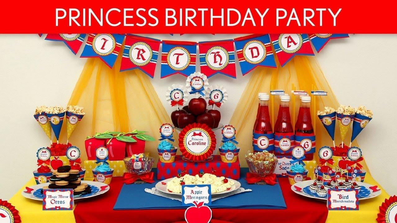 10 Fashionable Snow White Birthday Party Ideas snow white birthday party ideas snow white princess b25 youtube