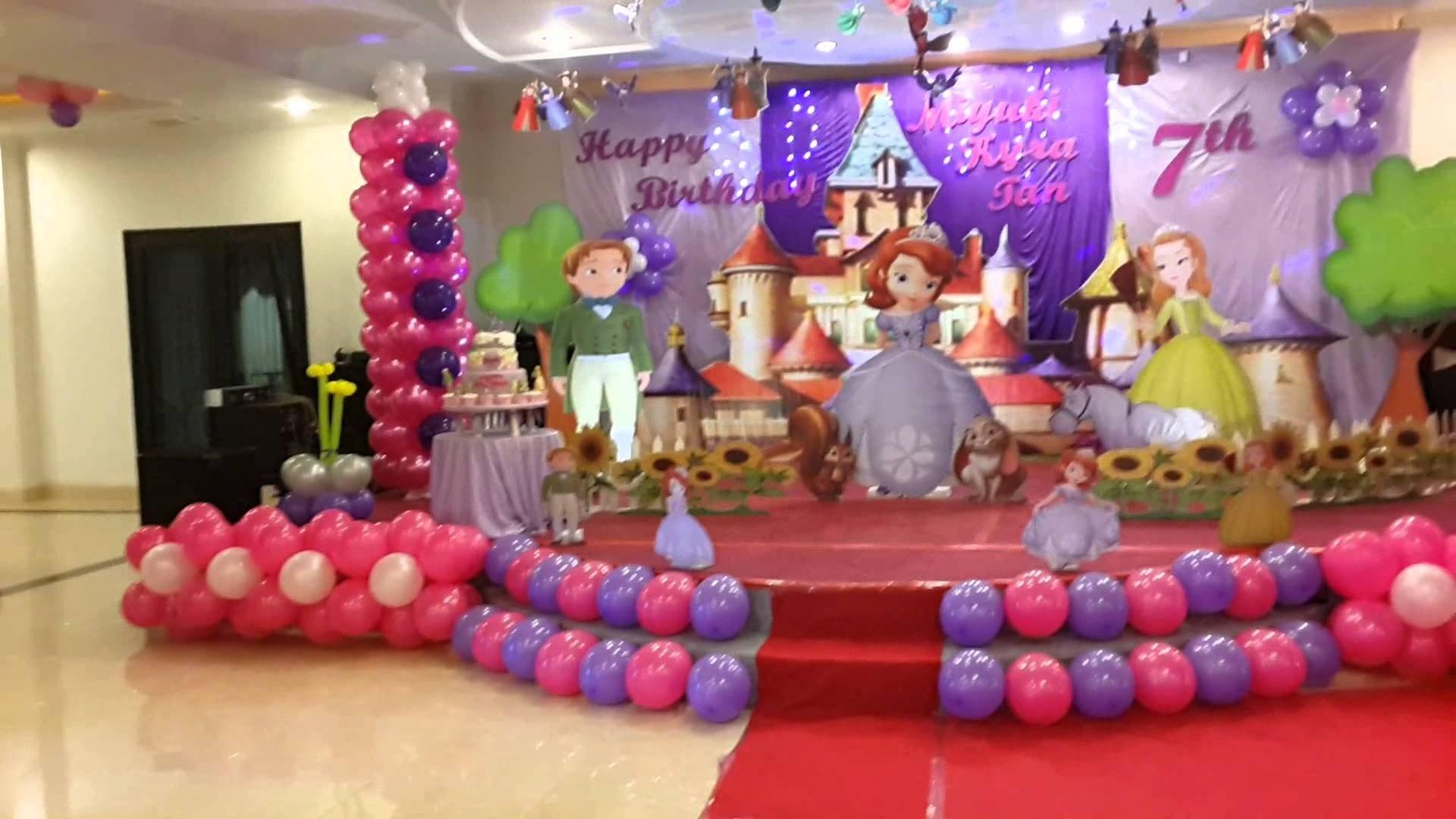 10 Stylish 1St Birthday Party Decoration Ideas sofia the first birthday theme youtube 1