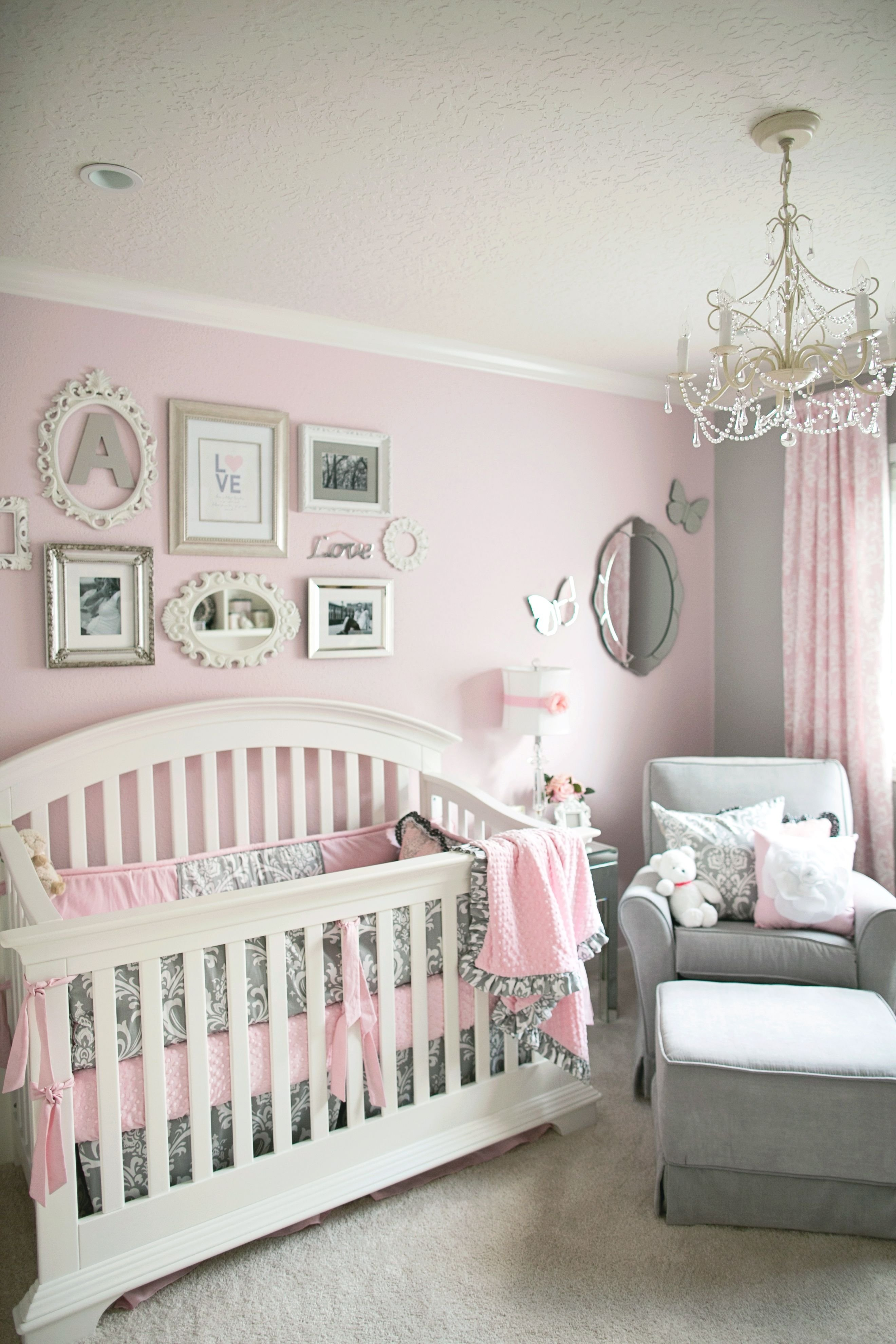 10 Ideal Pink And Grey Nursery Ideas soft and elegant gray and pink nursery gray girls and nursery 2021