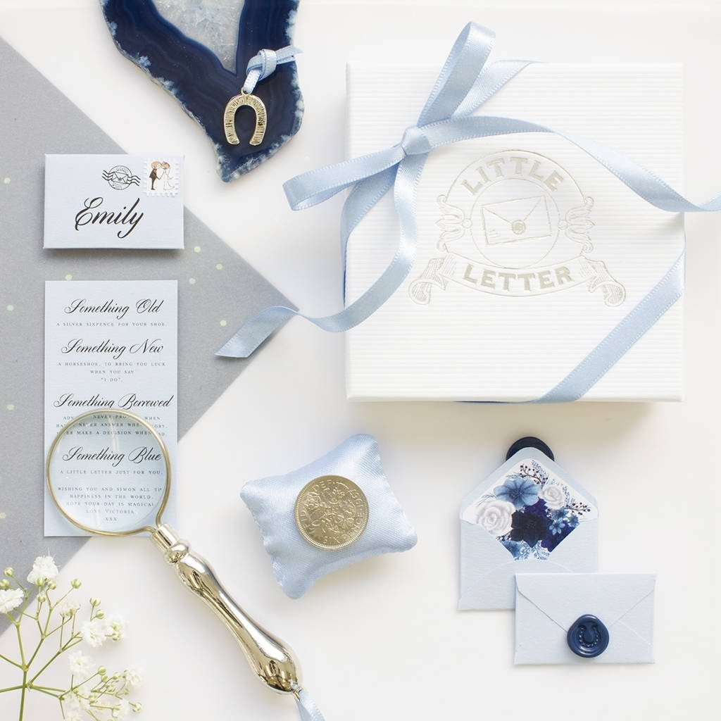 10 Fabulous Something Borrowed Ideas For Bride something old new borrowed blue and a sixpencelittle letter 3 2020