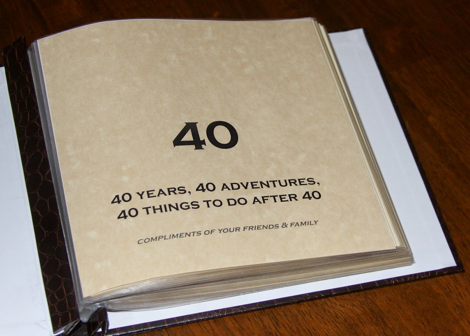 10 Fashionable 40Th Birthday Gift Ideas For Best Friend Sometimes Creative 40th Bucket List Scrapbook