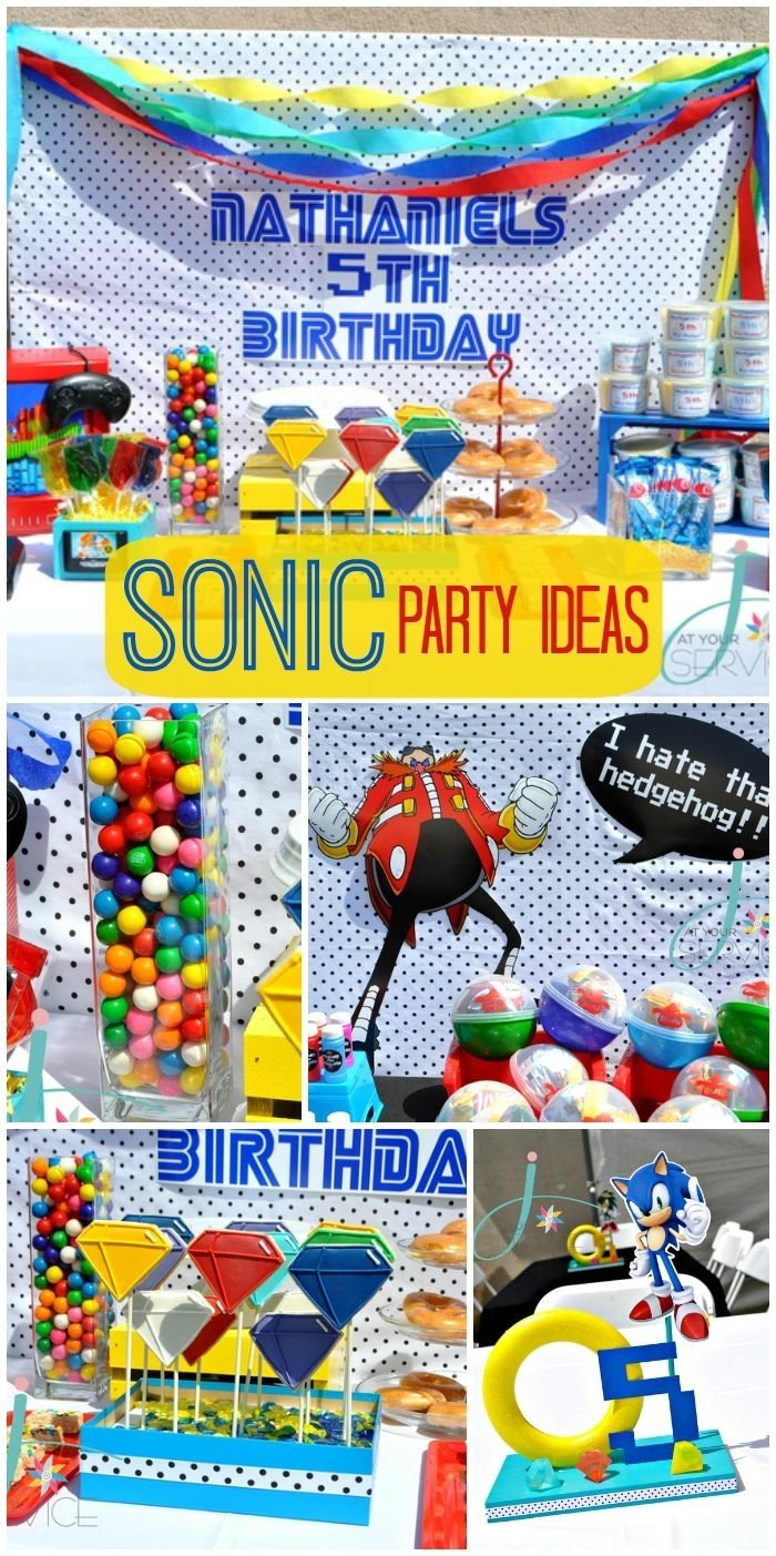 10 Nice Sonic The Hedgehog Party Ideas sonic the hedgehog birthday nates 5th birthday boy birthday 2021