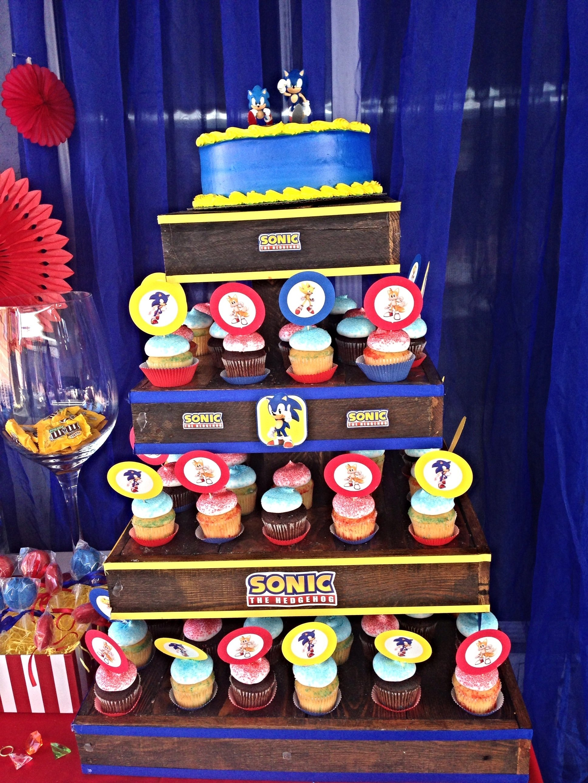 10 Nice Sonic The Hedgehog Party Ideas sonic the hedgehog birthday party cupcake tower sonic the 2021
