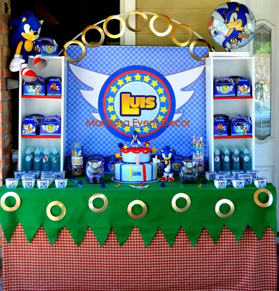 10 Great Sonic The Hedgehog Birthday Party Ideas sonic the hedgehog birthday party ideas photo 1 of 26 catch my party 2021