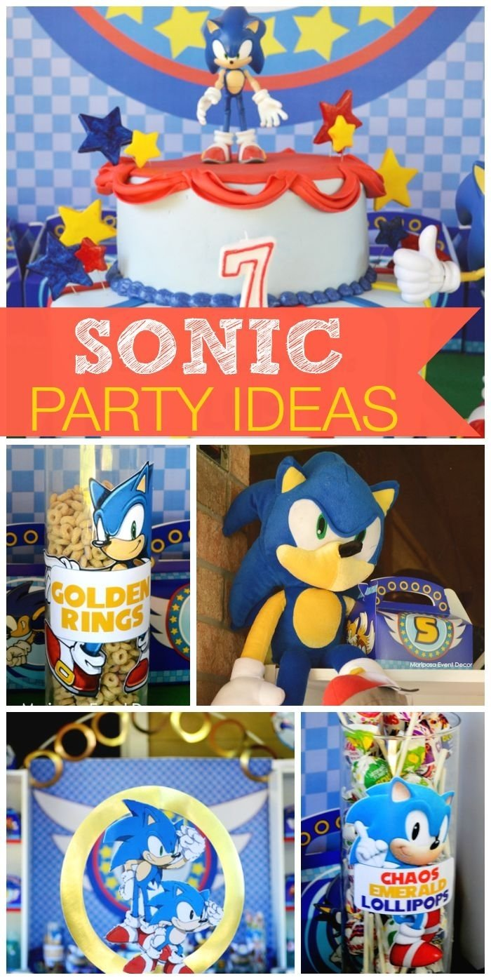 10 Nice Sonic The Hedgehog Party Ideas sonic the hedgehog birthday sonic zoom golden ring boy 2021