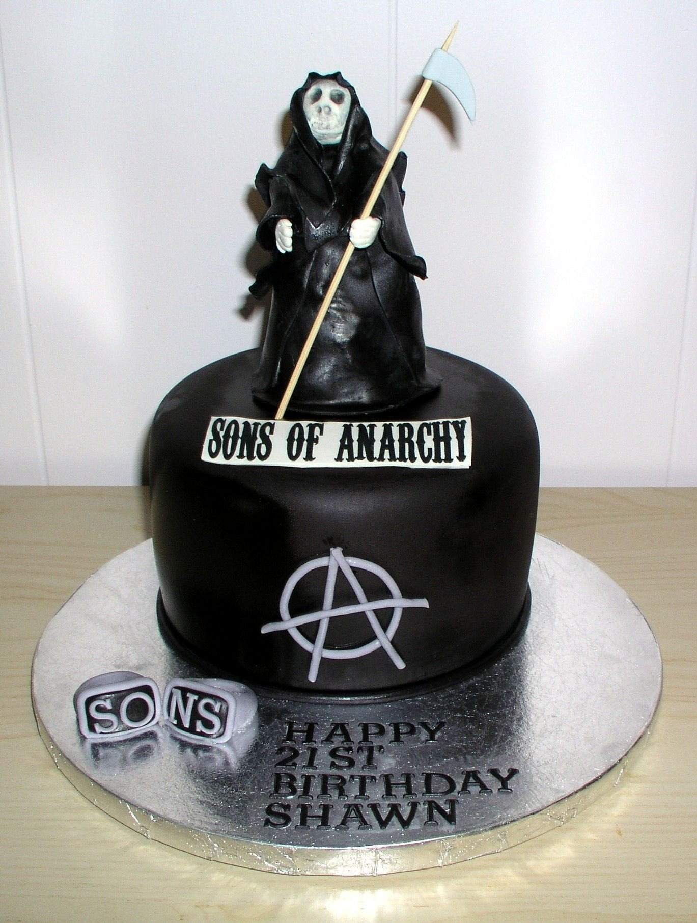 10 Stunning Sons Of Anarchy Party Ideas sons of anarchy cake cake dreams cookie wishes pinterest 2021