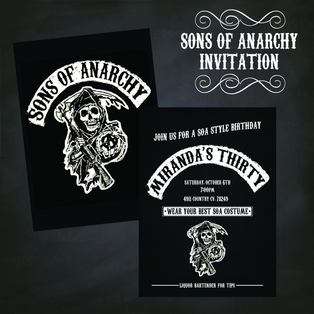 10 Stunning Sons Of Anarchy Party Ideas sons of anarchy invitation sons of anarchy party ideas pinterest 2021