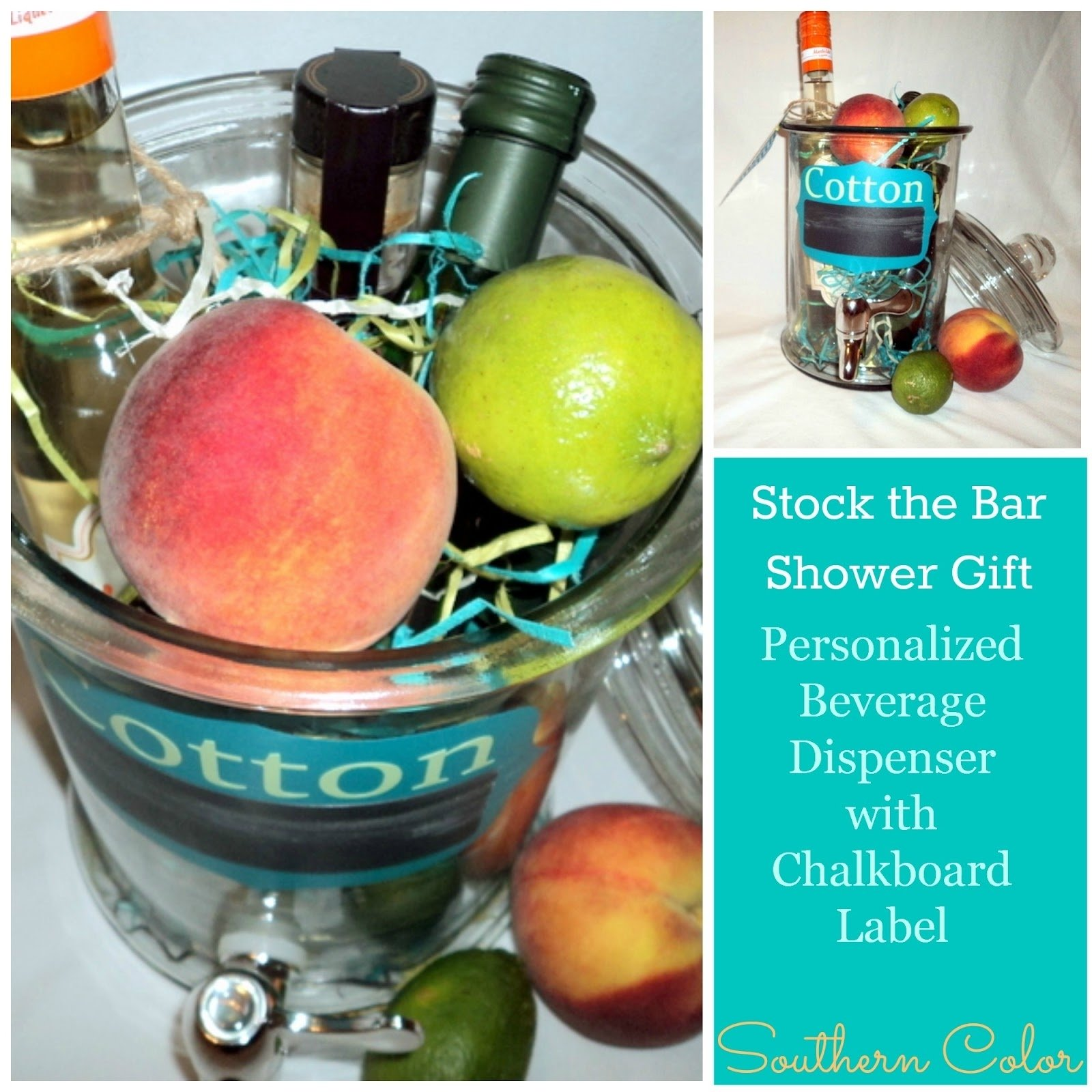 10 Lovely Stock The Bar Gift Ideas southern color stock the bar shower gift ga peach cocktail recipe 2021