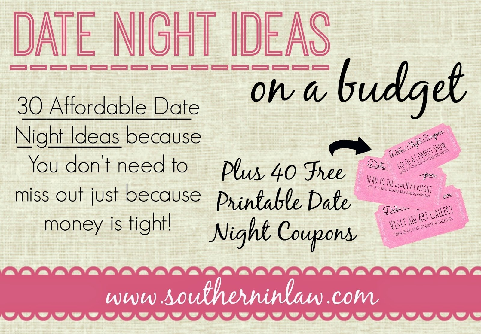 southern in law: 30 affordable date night ideas for when you're on a