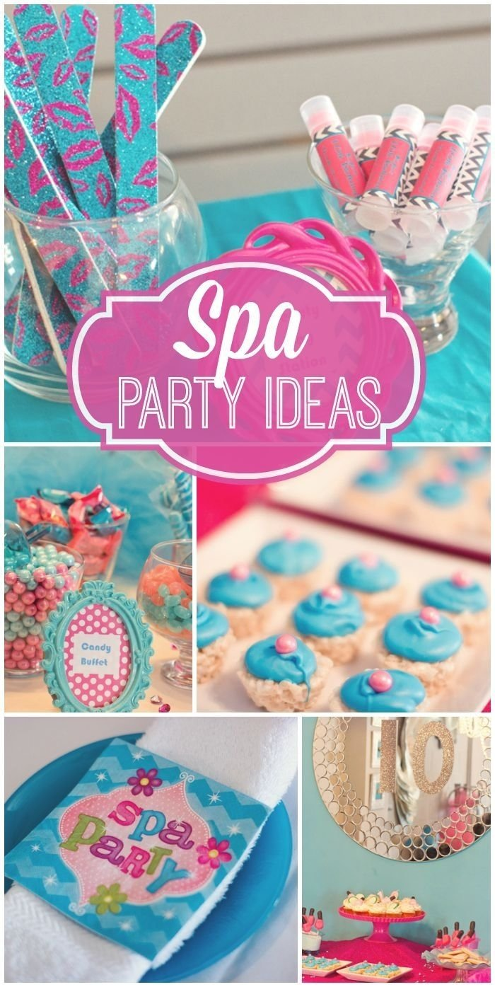10 Gorgeous Spa Party Ideas For Girls spa birthday kylas spa tacular party idees de fete fetes et spa 2021