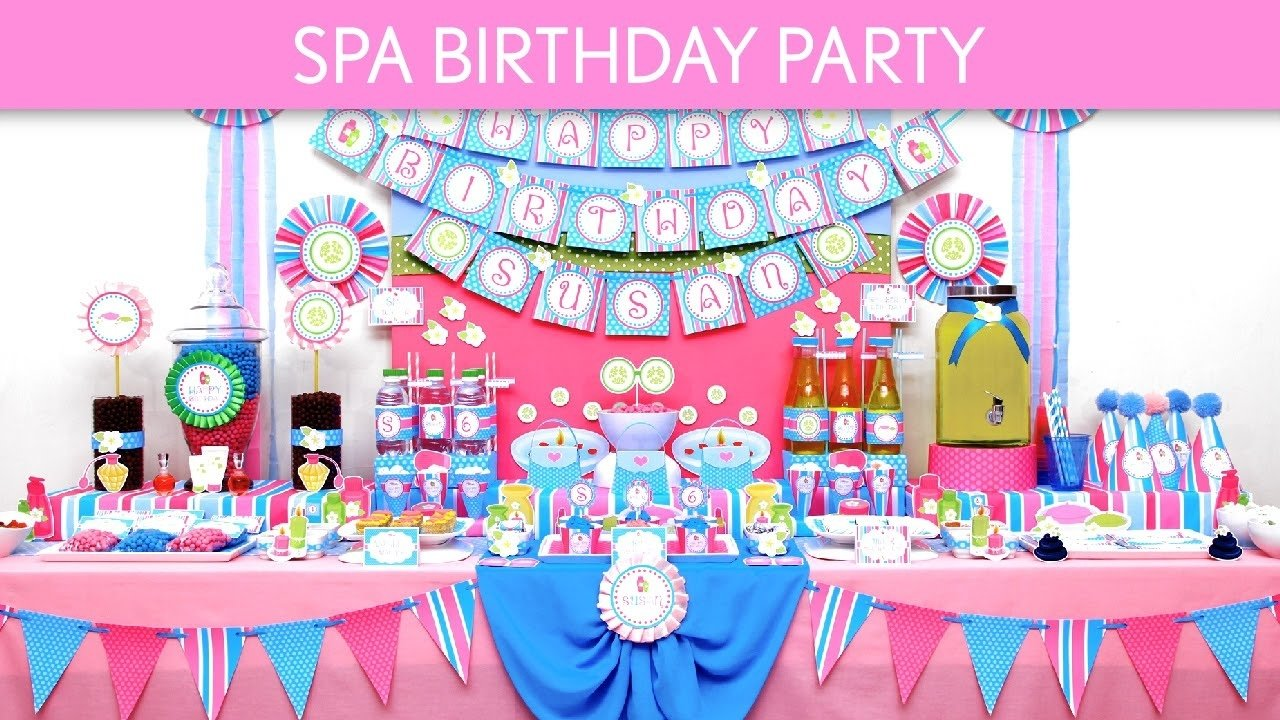 10 Perfect Birthday Party Ideas For 9 Year Old Girls spa birthday party ideas spa b133 youtube 9 2020