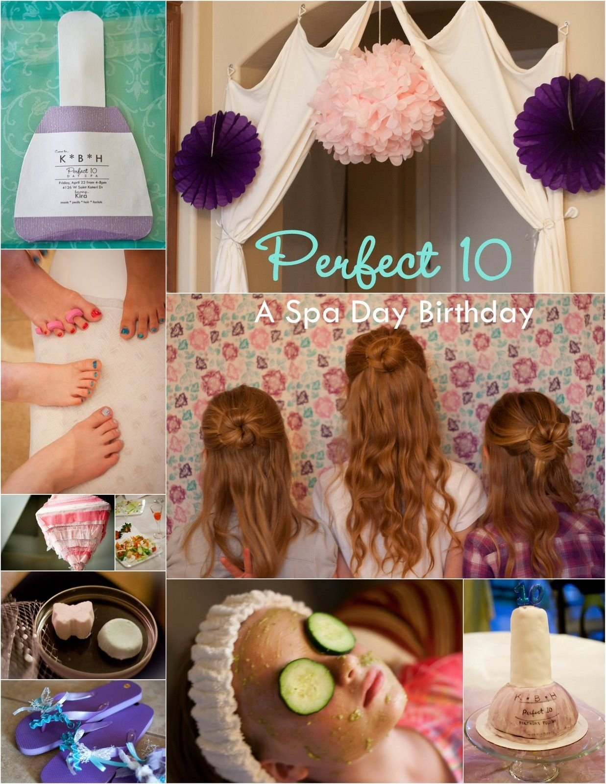 10 Nice Birthday Party Ideas For Teenage Girls spa day birthday perfect 10 perfect 10 girly girls and spa 2020