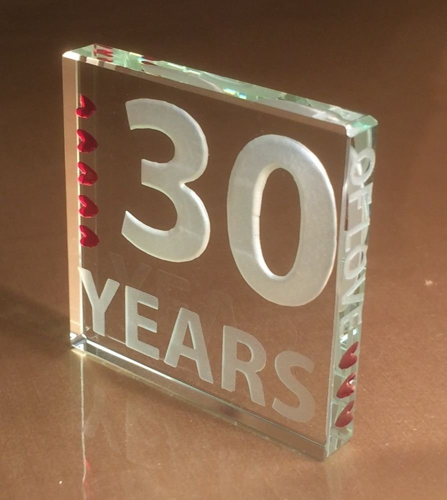 10 Wonderful 30 Year Anniversary Gift Ideas spaceform 30th pearl wedding anniversary gifts 30 years of love gift 2020