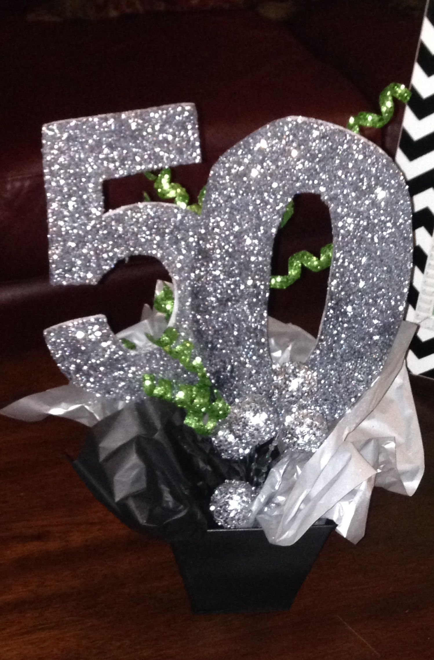 10 Fabulous 50Th Birthday Party Centerpiece Ideas sparkly silver 50th birthday party centerpiece follow us for more 2020