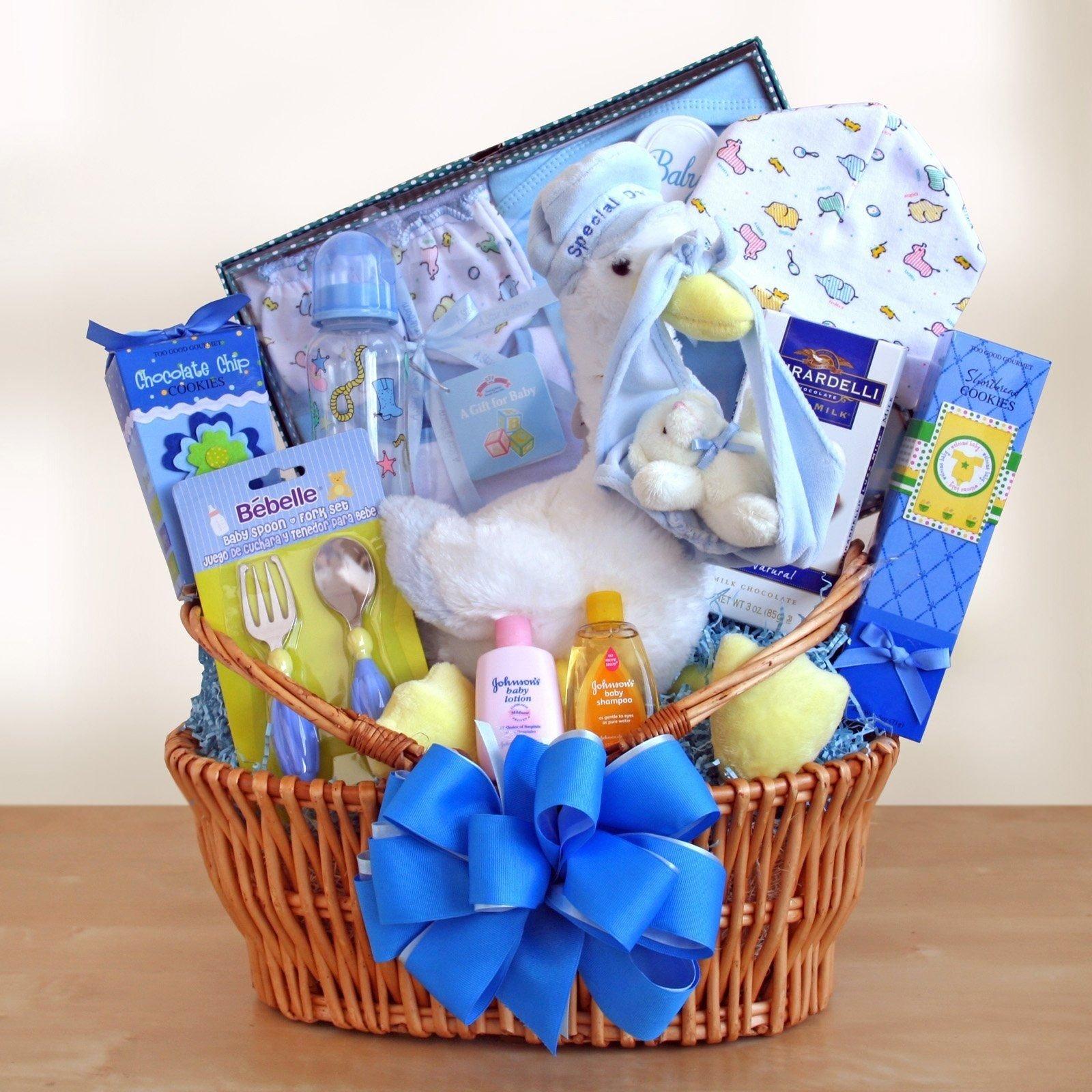 10 Most Popular Baby Boy Gift Basket Ideas special stork delivery baby boy gift basket baby shower gift 2 2020