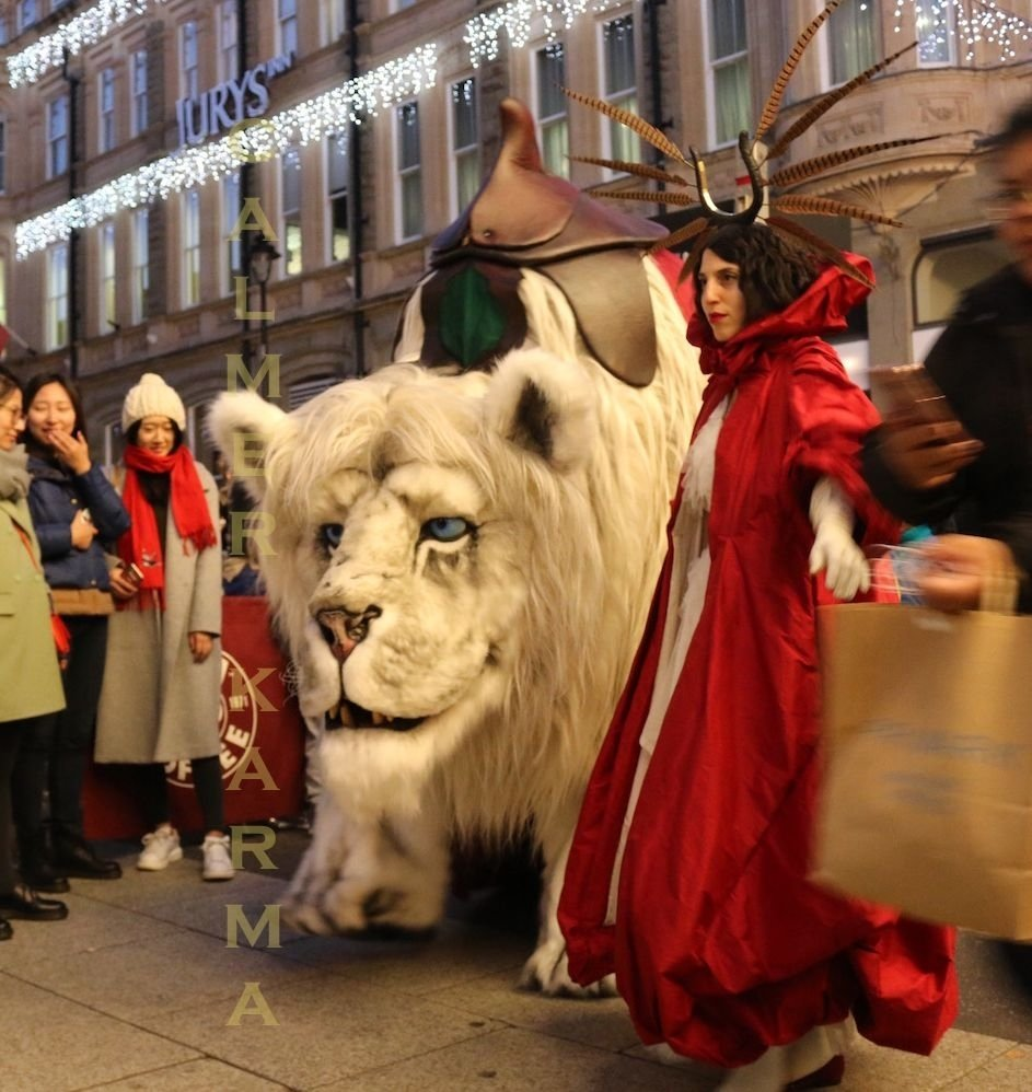 10 Stylish Corporate Christmas Party Entertainment Ideas spectacular animatronic snow lion family friendly entertainment 2020