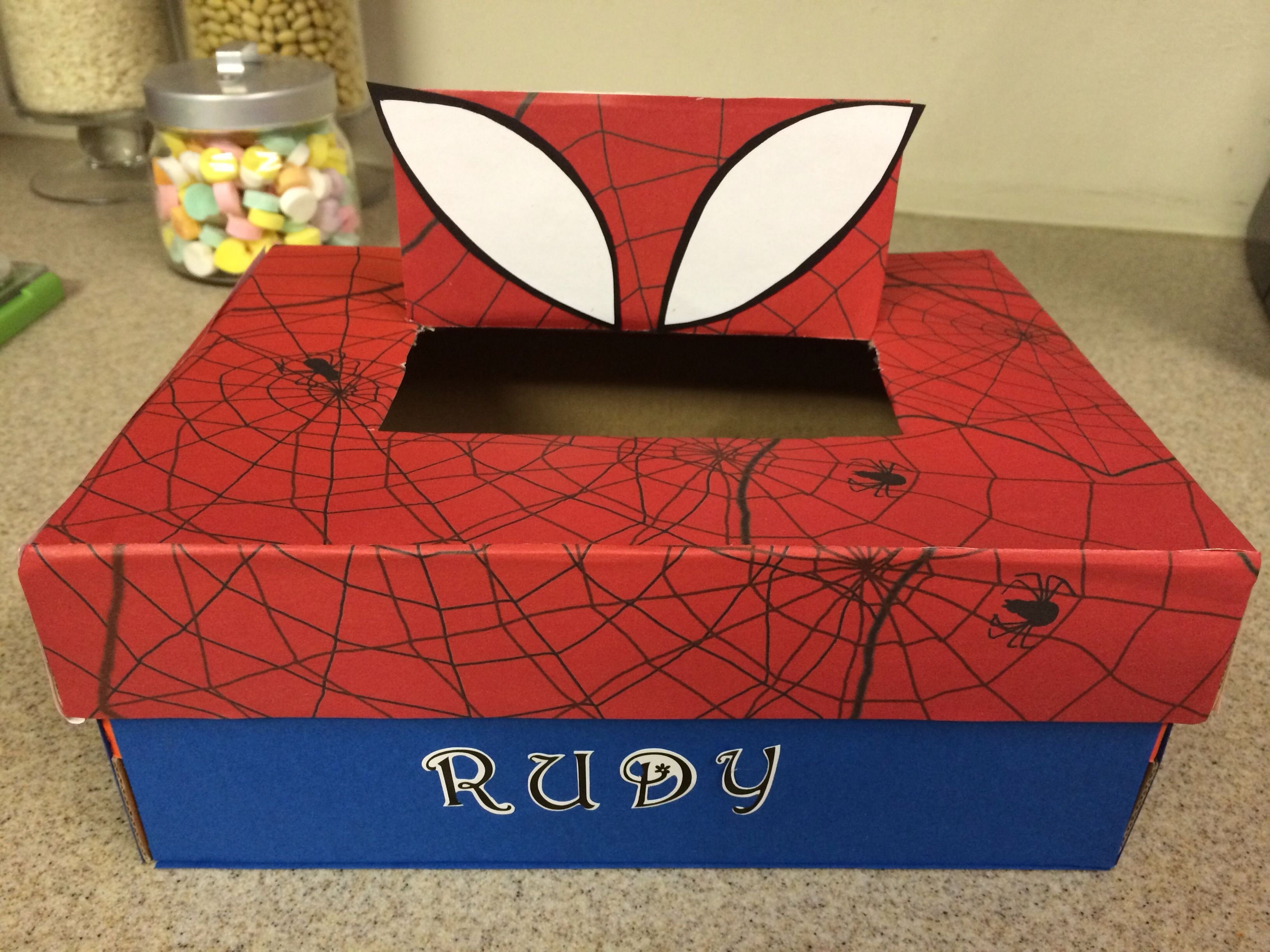 spider-man valentine shoe box. | my diy | pinterest | spider-man