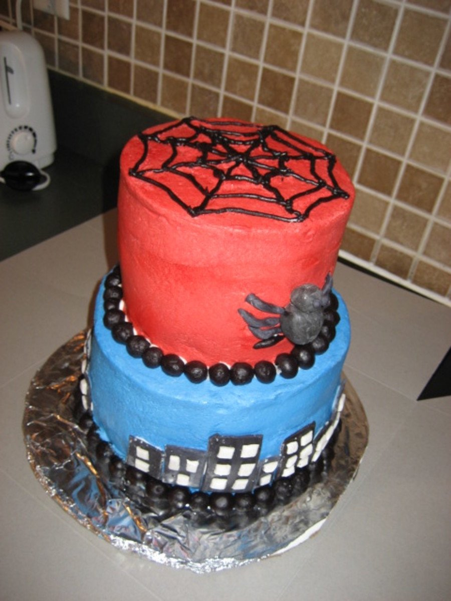 10 Great 4 Year Old Birthday Cake Ideas spiderman birthday cake for 4 year old cakecentral