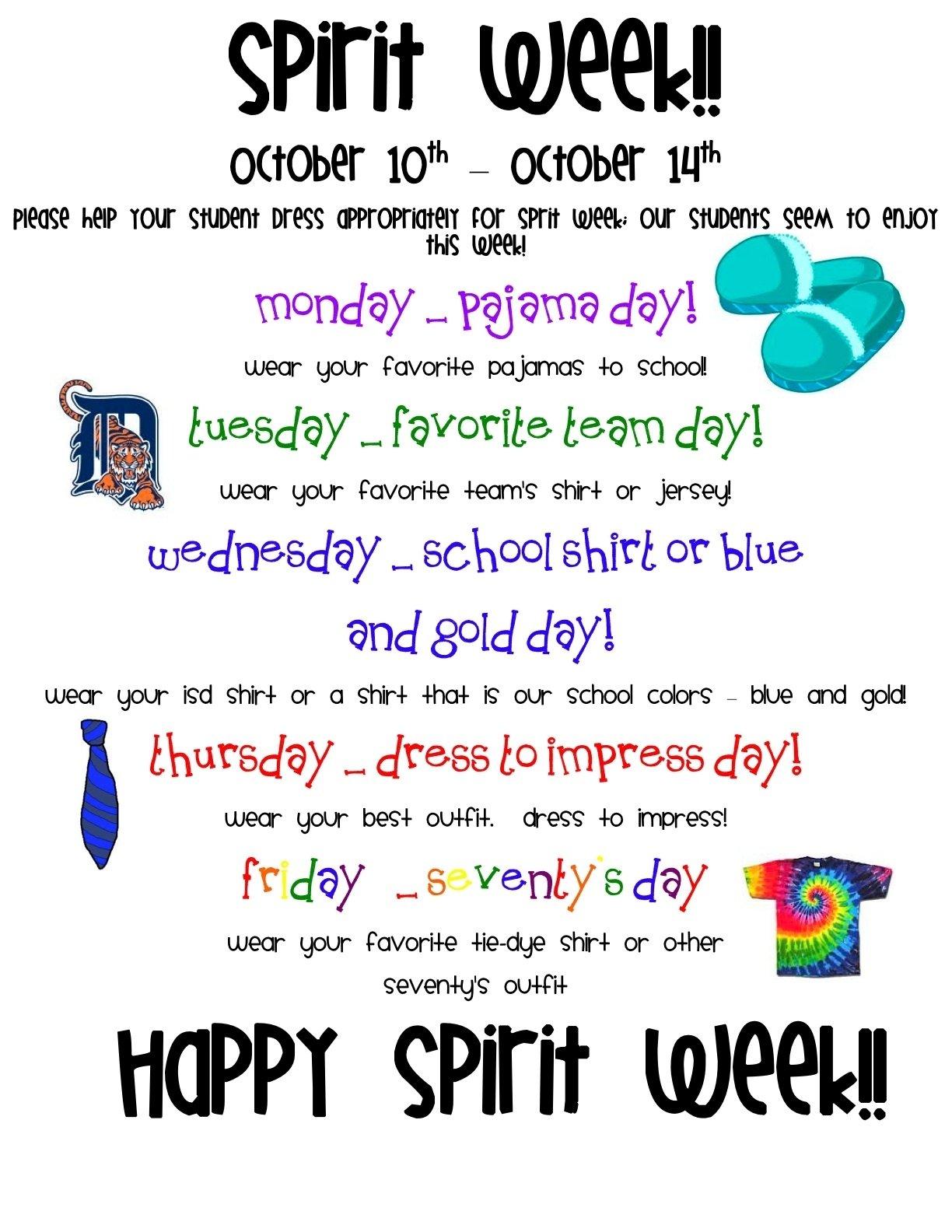 spirit dress up ideas for high school