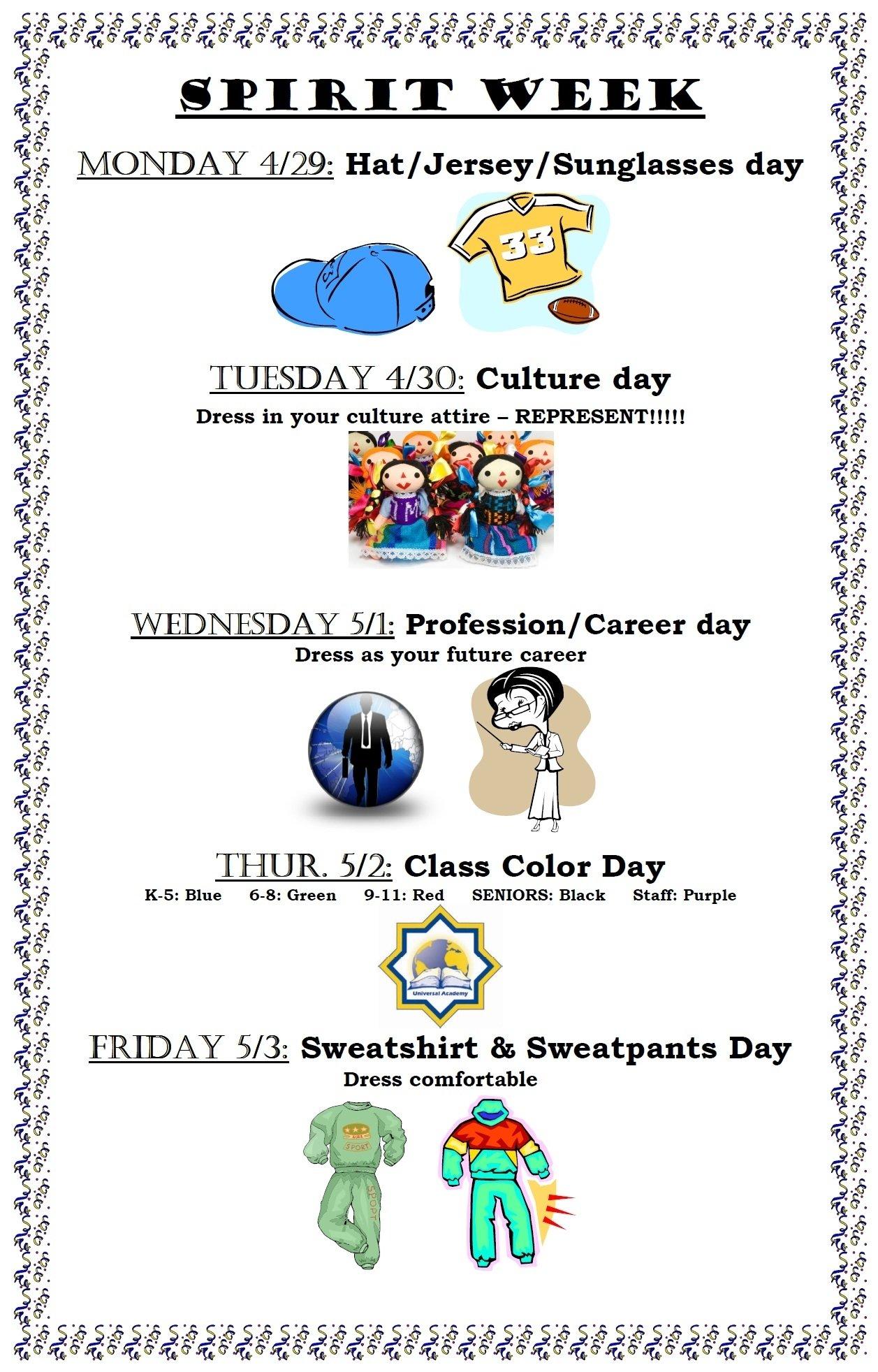 10 Stylish Good Ideas For Spirit Week spirit week 2013 spirit week pinterest school week students 9 2020