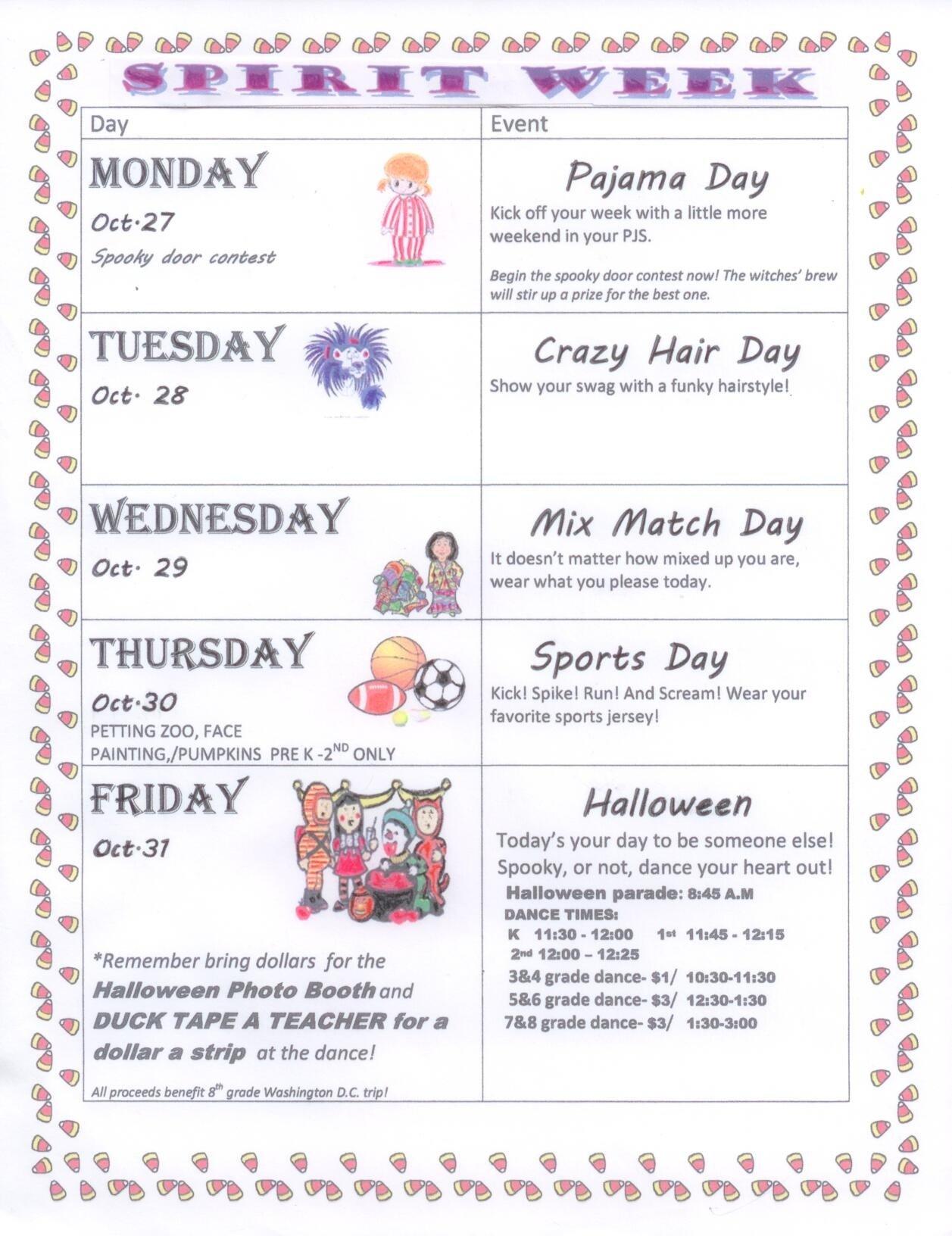 10 Most Recommended Spirit Week Ideas For Elementary School spirit week for preschool google search preschool spirit week 2020