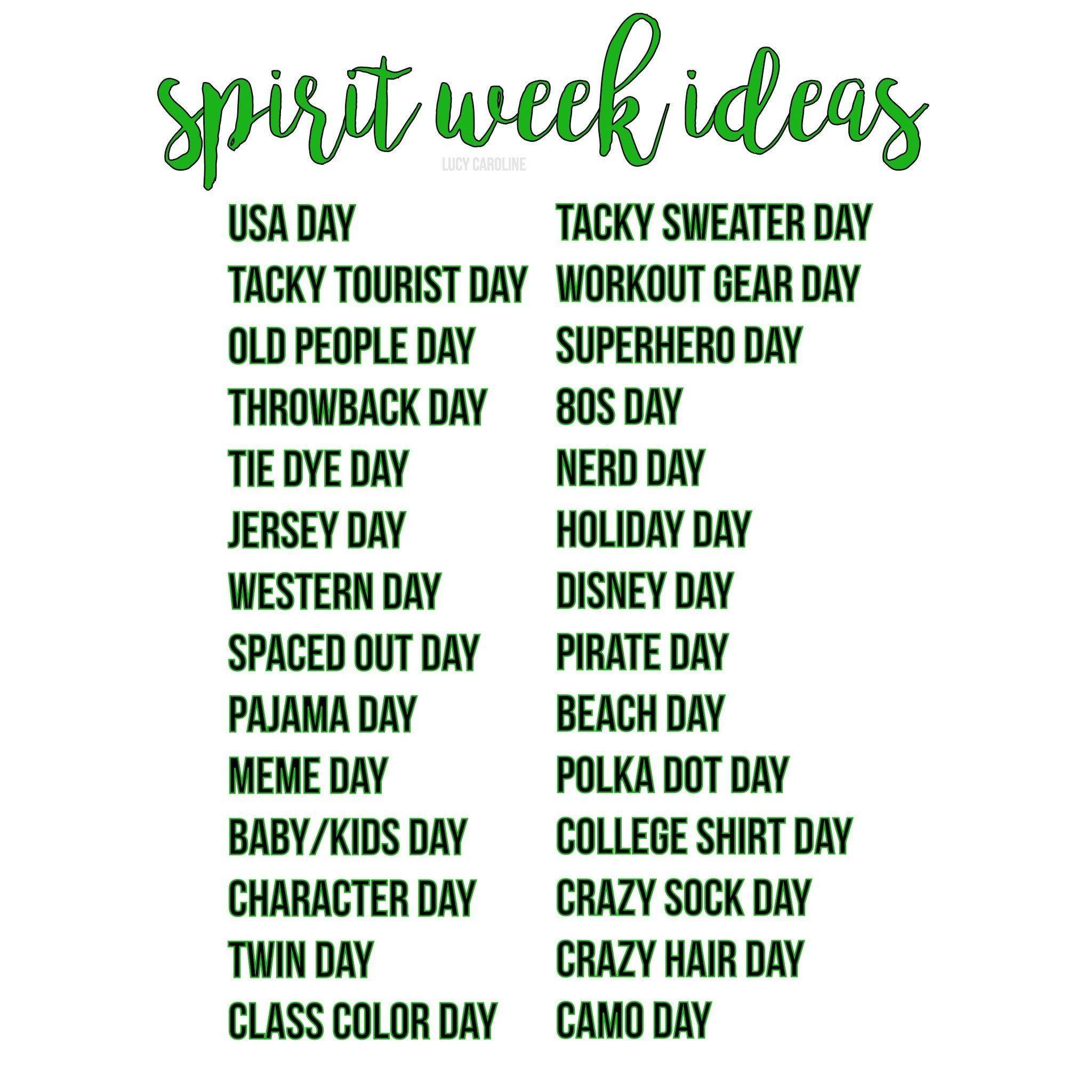10 Perfect Homecoming Week Dress Up Ideas spirit week ideas student council pinterest spirit week 1 2020